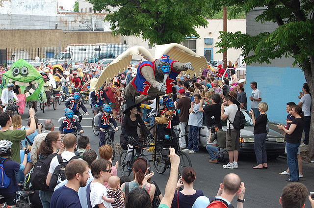 Learn the ins-and-outs of designing an entry for this year's Kensington Kinetic Sculpture Derby at Frank's Kitchens on Saturday | Bicycle Coalition, Creative Commons
