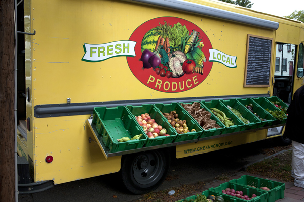 The Fresh Food Hub will carry fruits, vegetables, dairy, and pantry goods. | courtesy of Ryan Kuck