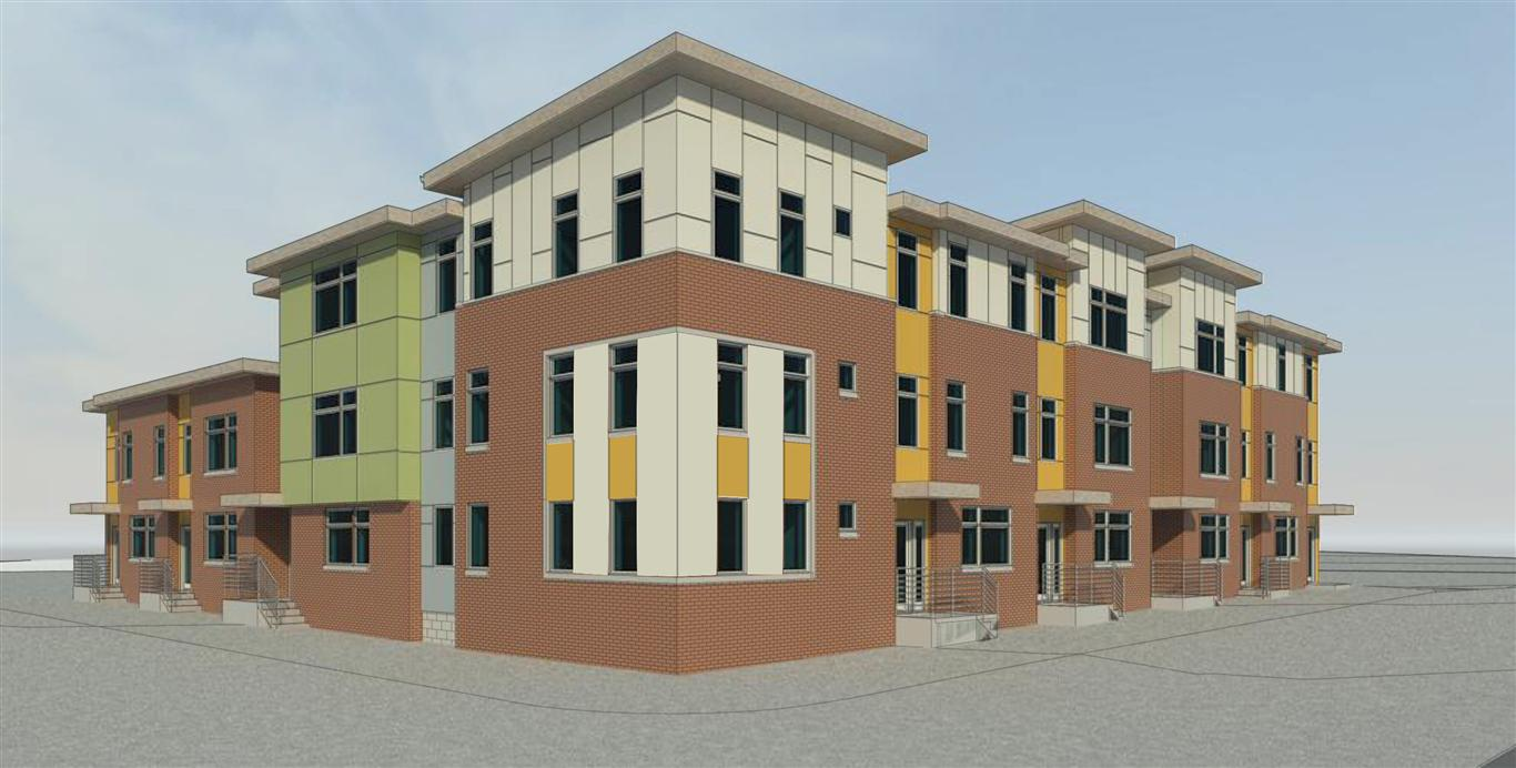 Rendering of the co-op housing planned for the St. Boniface site. | Norris Square Civic Association