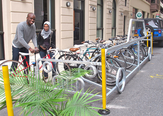 Have you seen this car shaped bike rack on Sydenham at Walnut? Want in-street bike parking near you?
