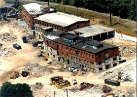 Simpson Paper Mill, Miquon, PA, after partial demolition in 1998.