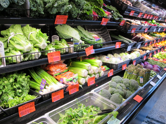 Mariposa's new location allows much more space for fresh produce.