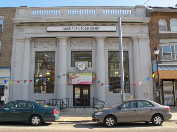 This March Mariposa Co-op relocated to a retrofitted, historic bank at 4824 Baltimore Ave.