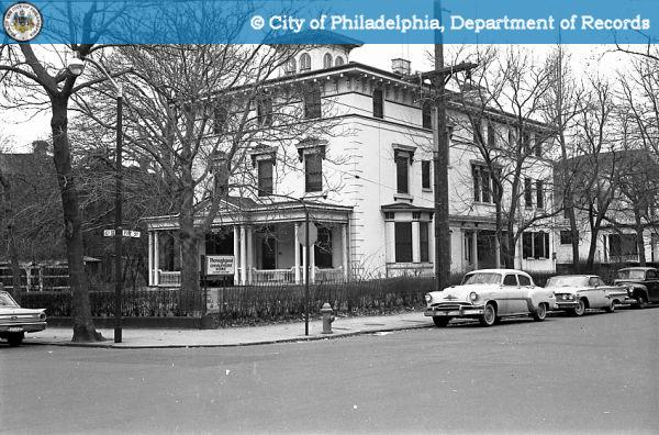 The historic mansion at 40th and Pine in 1963. | phillyhistory.org, Department of Records