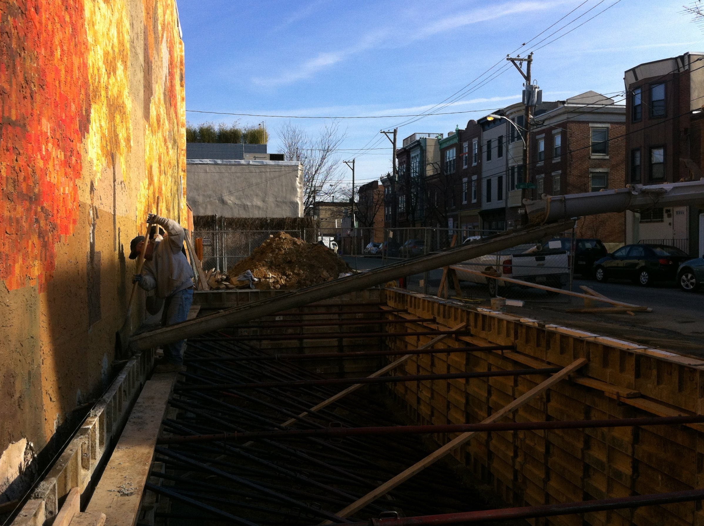 Construction of the new rowhouse at 9th and Bainbridge next to Autumn in December 2011.