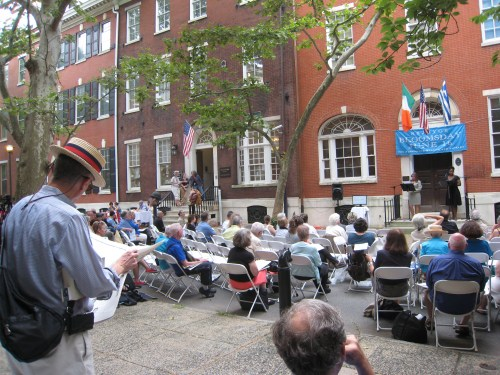 Bloomsday takes over the 2000 block of Delancey Place to celebrate James Joyce's 'Ulysses' on Saturday.