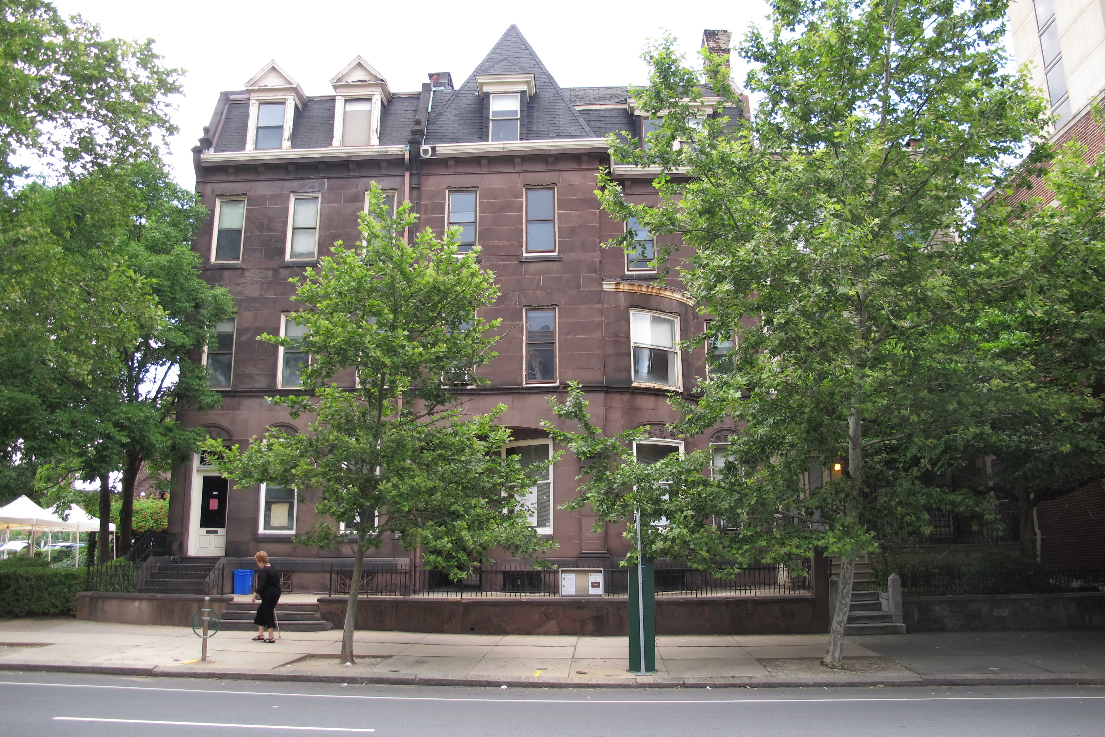 The Historical Commission approved demolition of these two historic brownstones on the 3700 block of Chestnut Street to make way for a residential tower to be built by the Episcopal Cathedral.