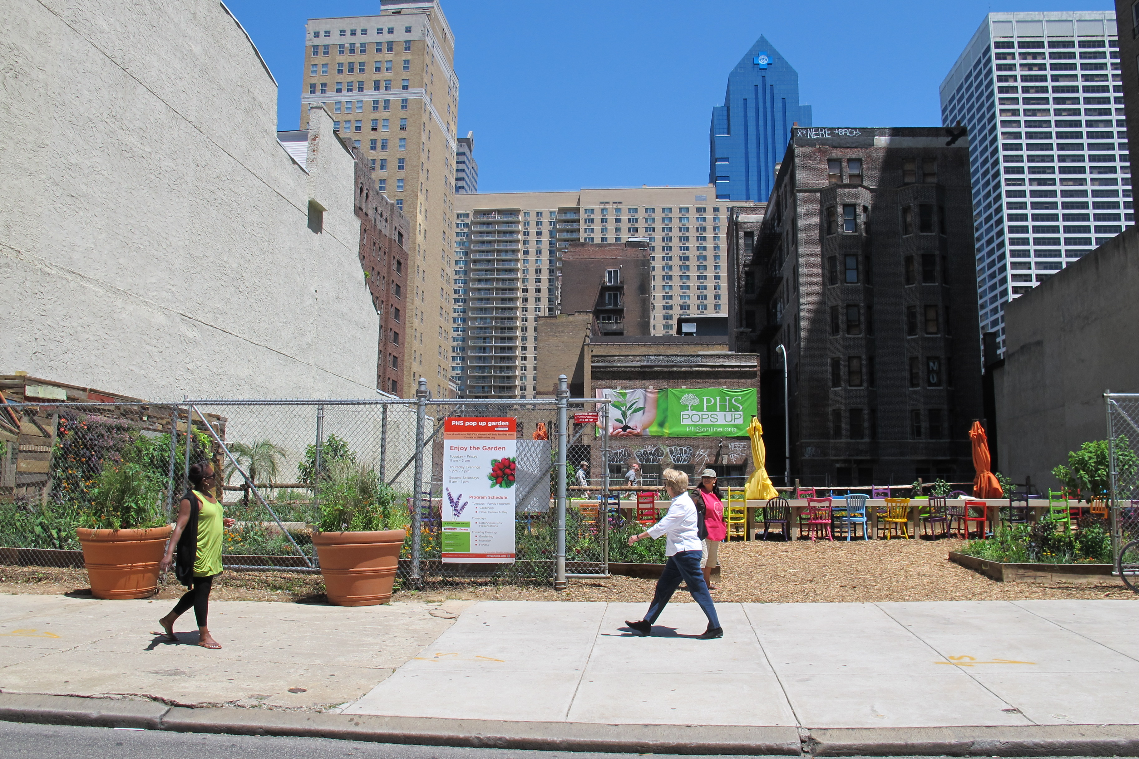 PHS Pops-Up Garden has taken over a vacant property on the 1900 block of Walnut Street.