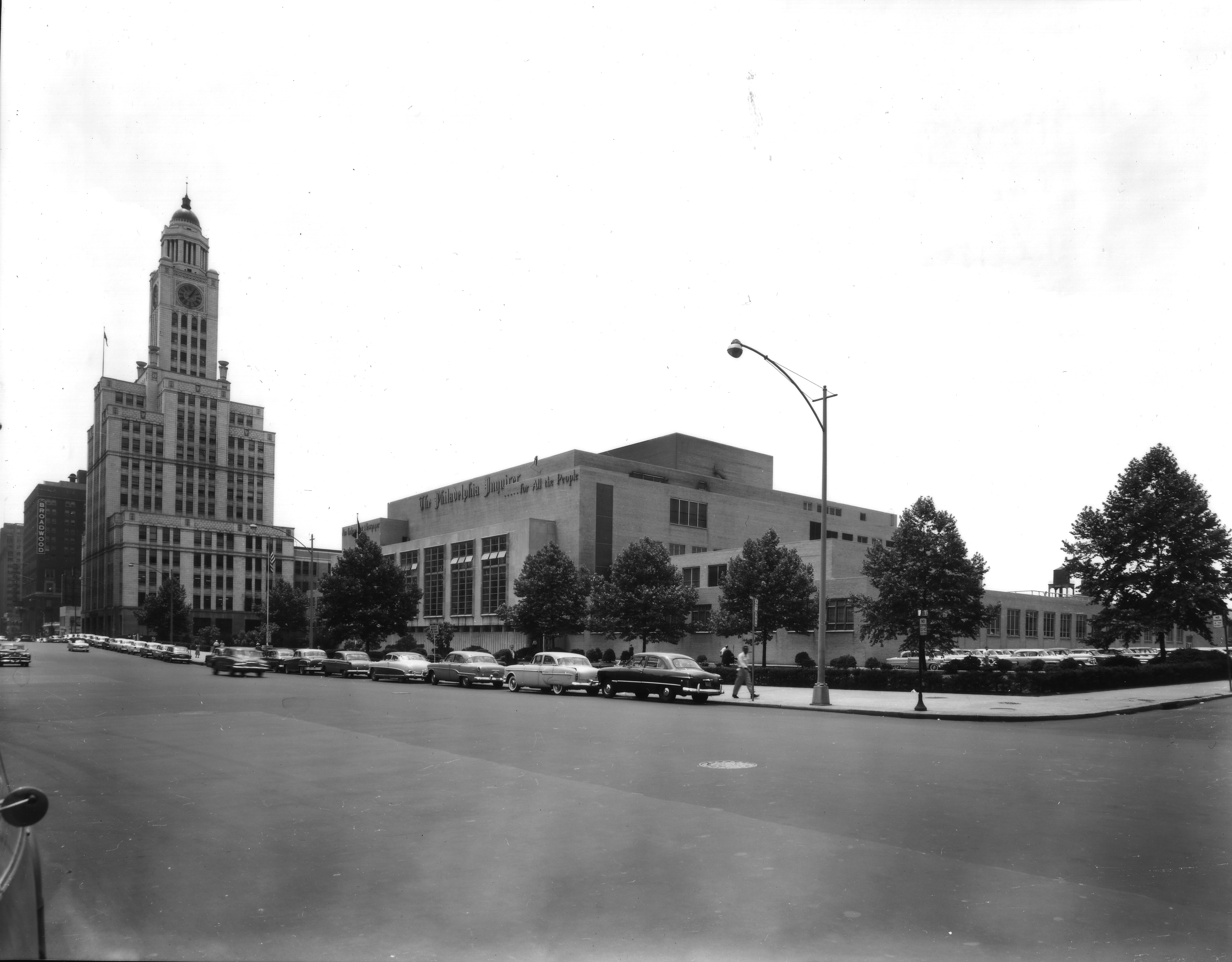 July 9, 1954: Inquirer Building | Parker & Mullikin, Free Library of Philadelphia Print and Picture Collection