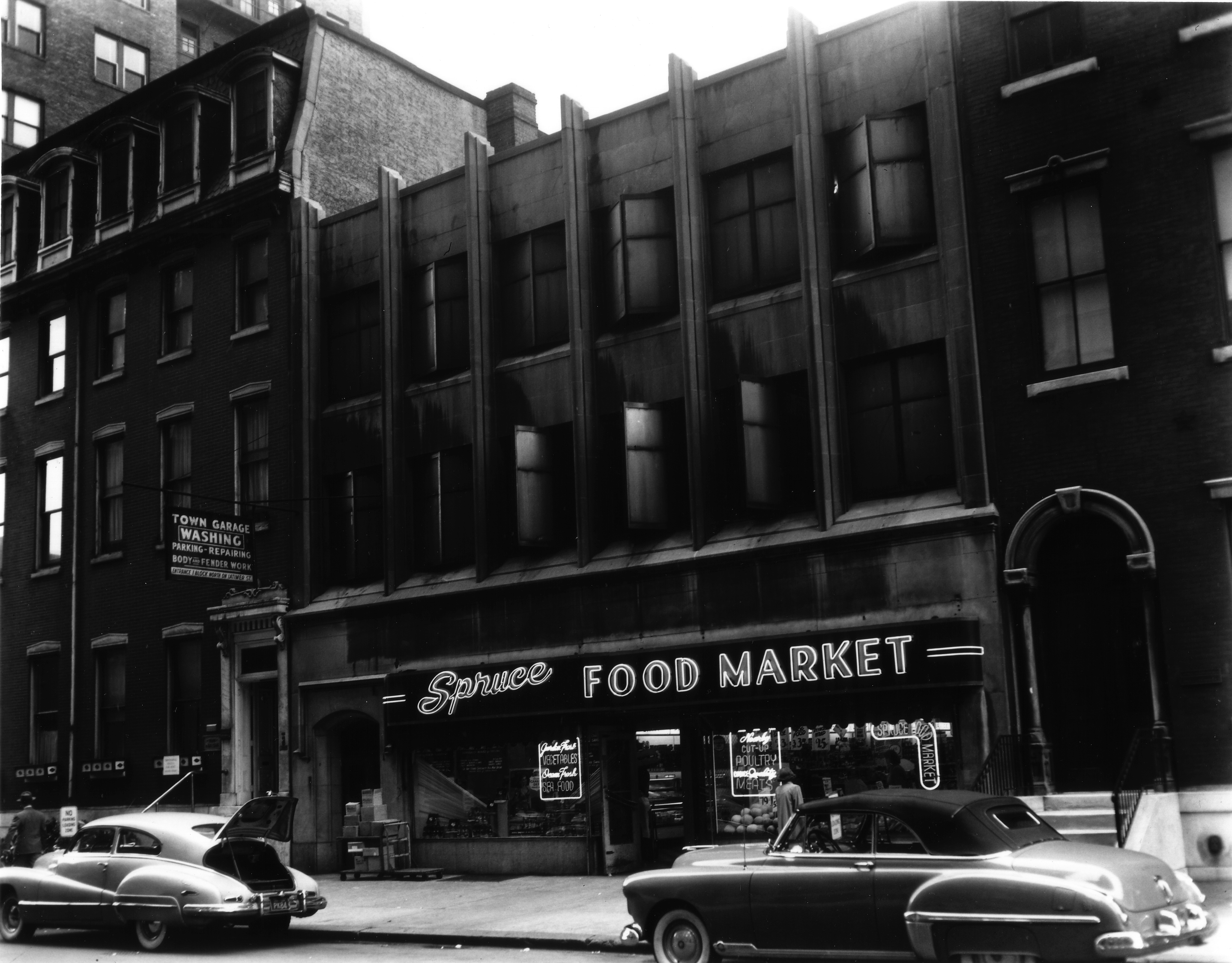 June 1, 1950, Spruce Food Market | Parker & Mullikin | Free Library of Philadelphia Print and Picture Collection