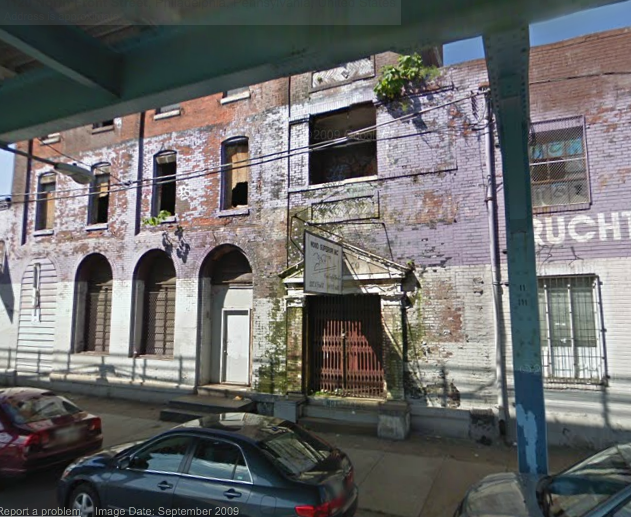 This vacant warehouse at 1118-30 N. Front was consumed by an overnight fire. | Google Street View