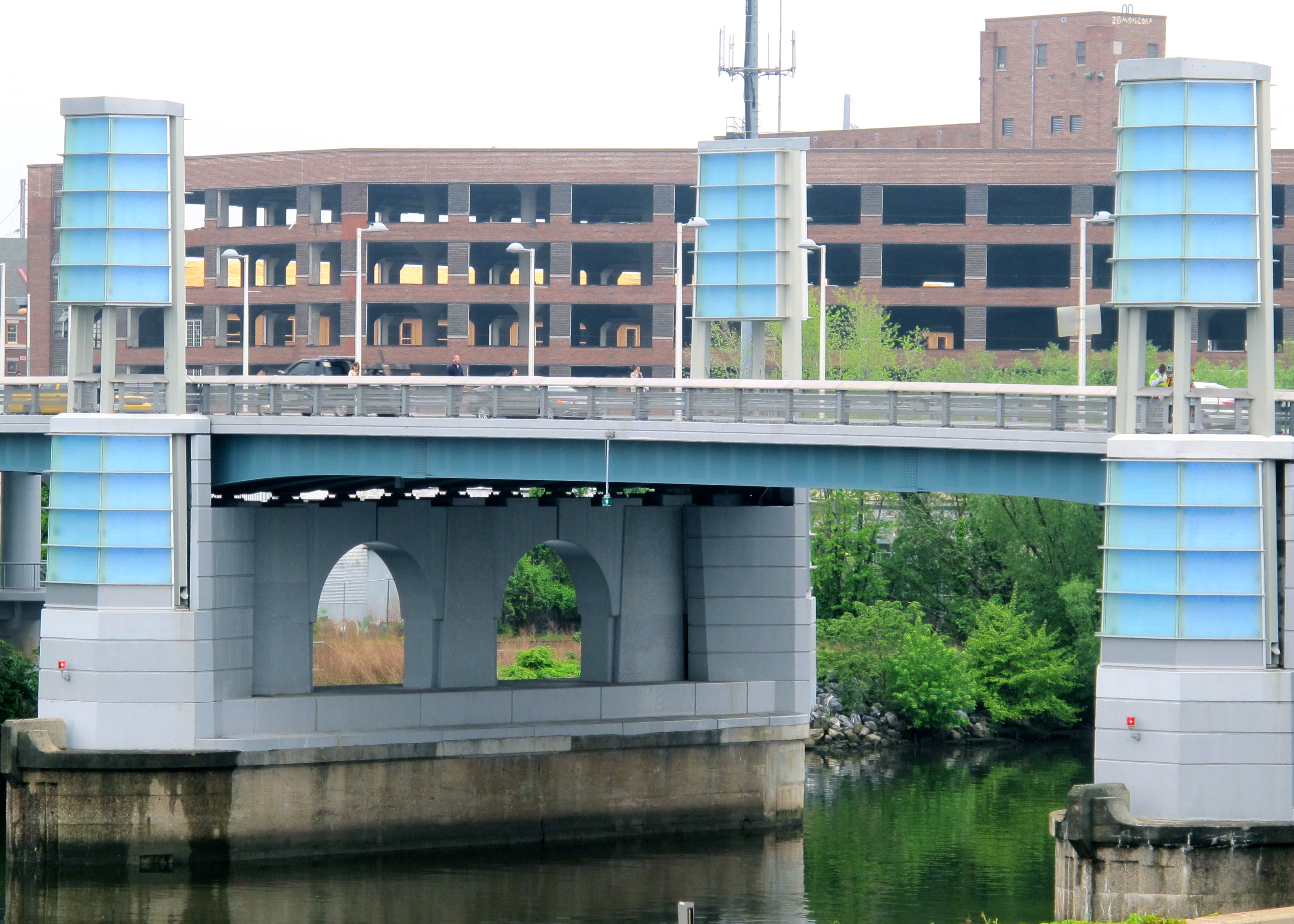 In May the South Street Bridge's new LED lights were tested, and on Monday the towers will finally be lit.