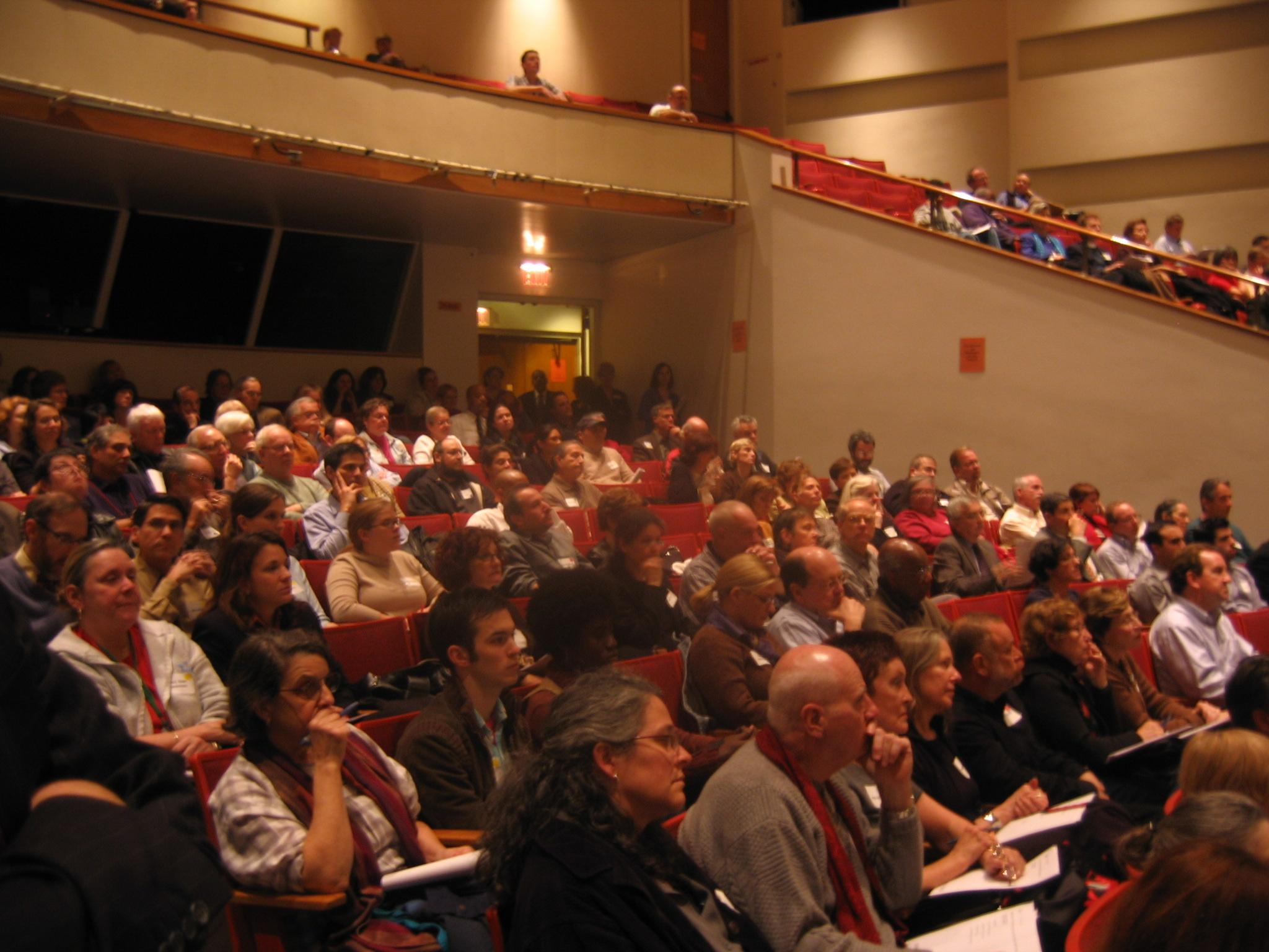 Attendees listen during value session at Seaport Museum