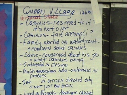 Some values from Queen Village