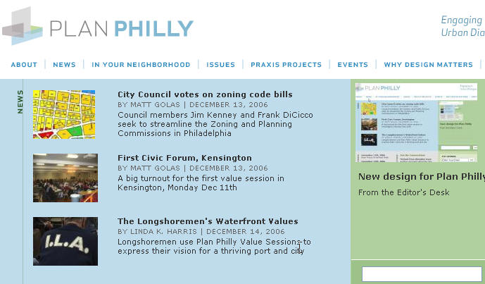PlanPhilly home page