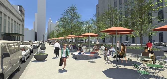 Name This Plaza | Rendering by Lager Raabe Skafte Landscape Architects, Inc.