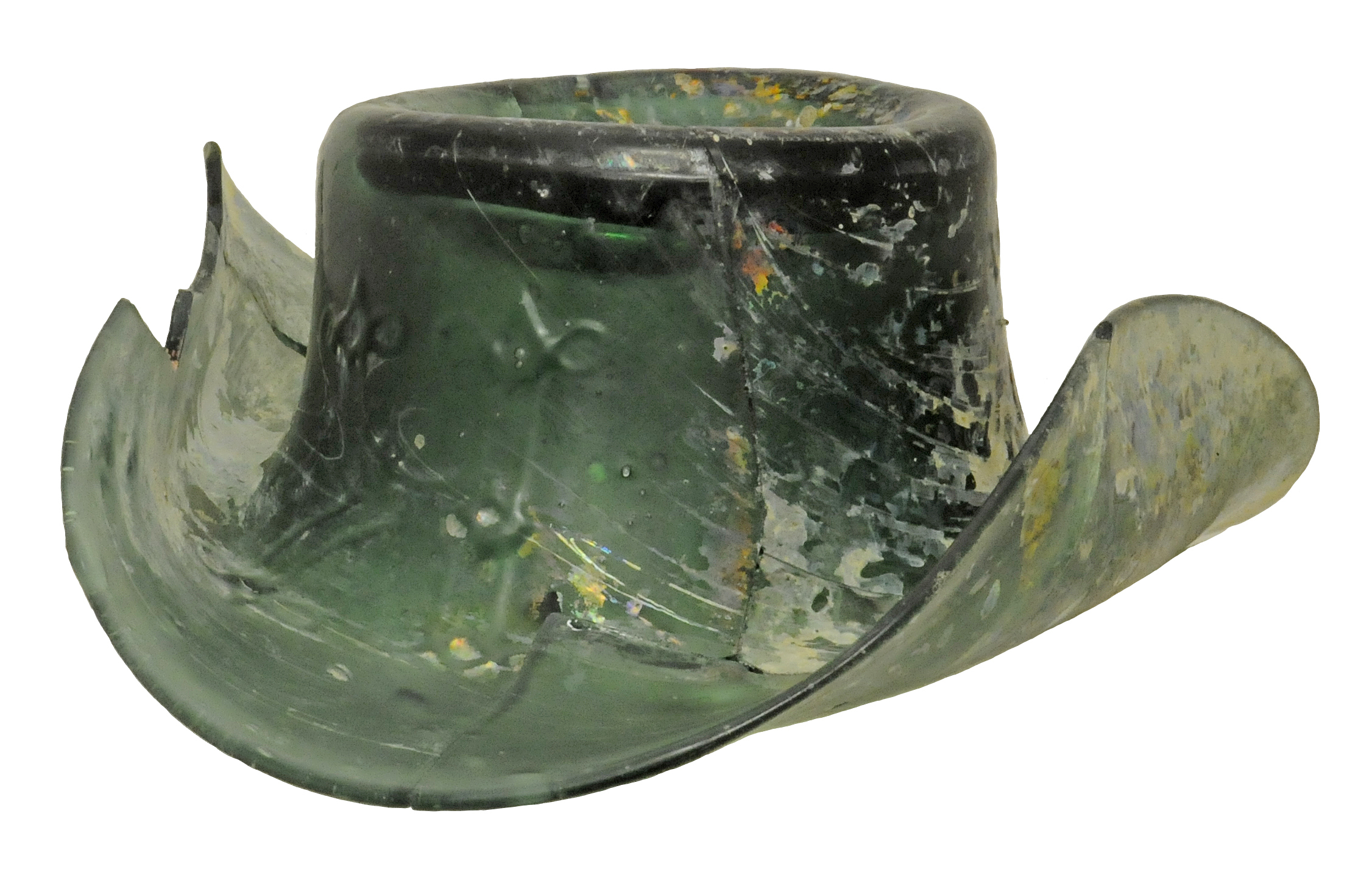 1850s glass hat made by a river wards glassmaker