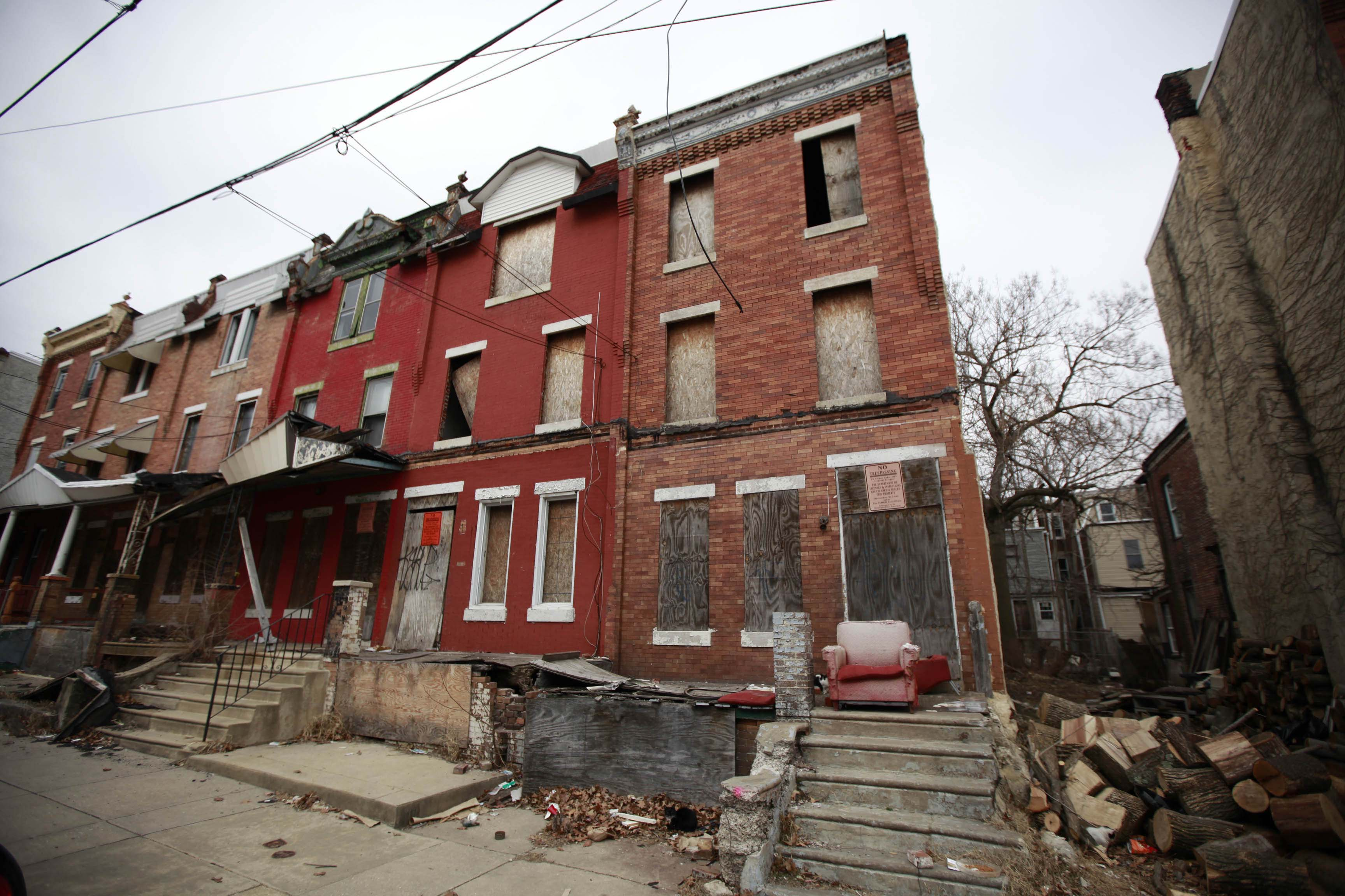 3831 Cambridge, property traced to Antoine Gardiner and photographed February 22, 2013. (David Swanson / Inquirer Staff Photographer)