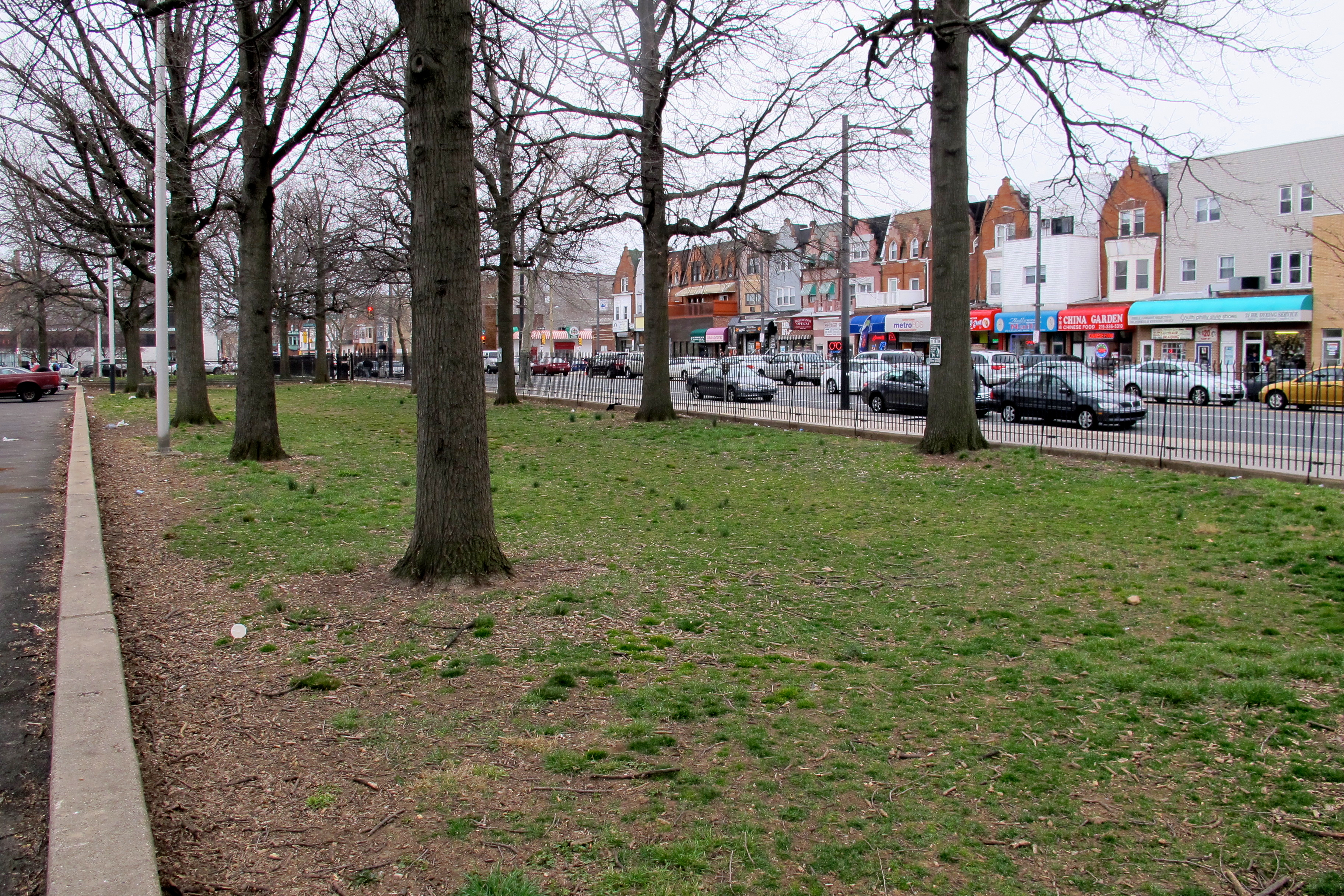 A park-like space could take root along South Broad Street for the community's enjoyment.