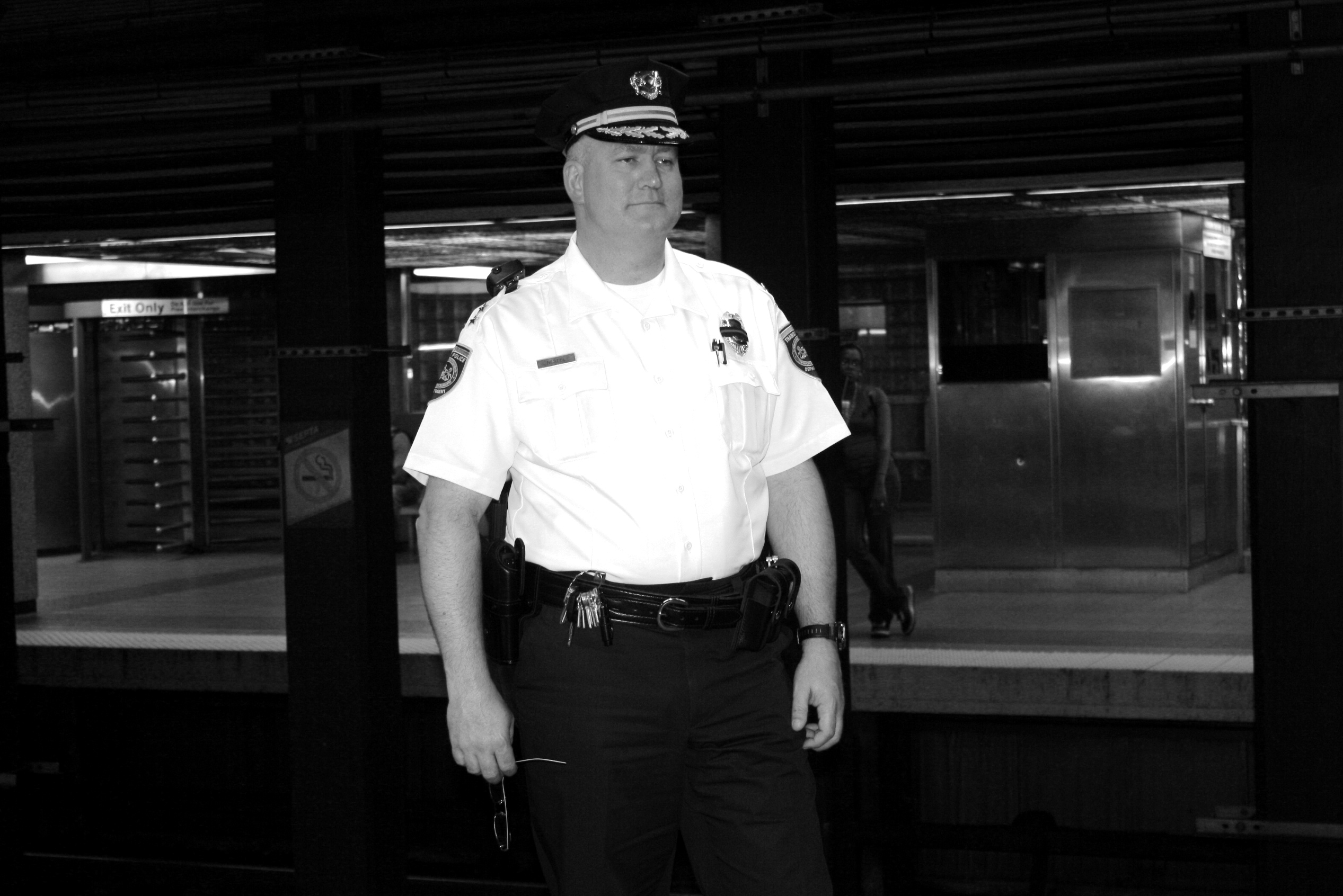 Chief Nestel at 13th Street Station
