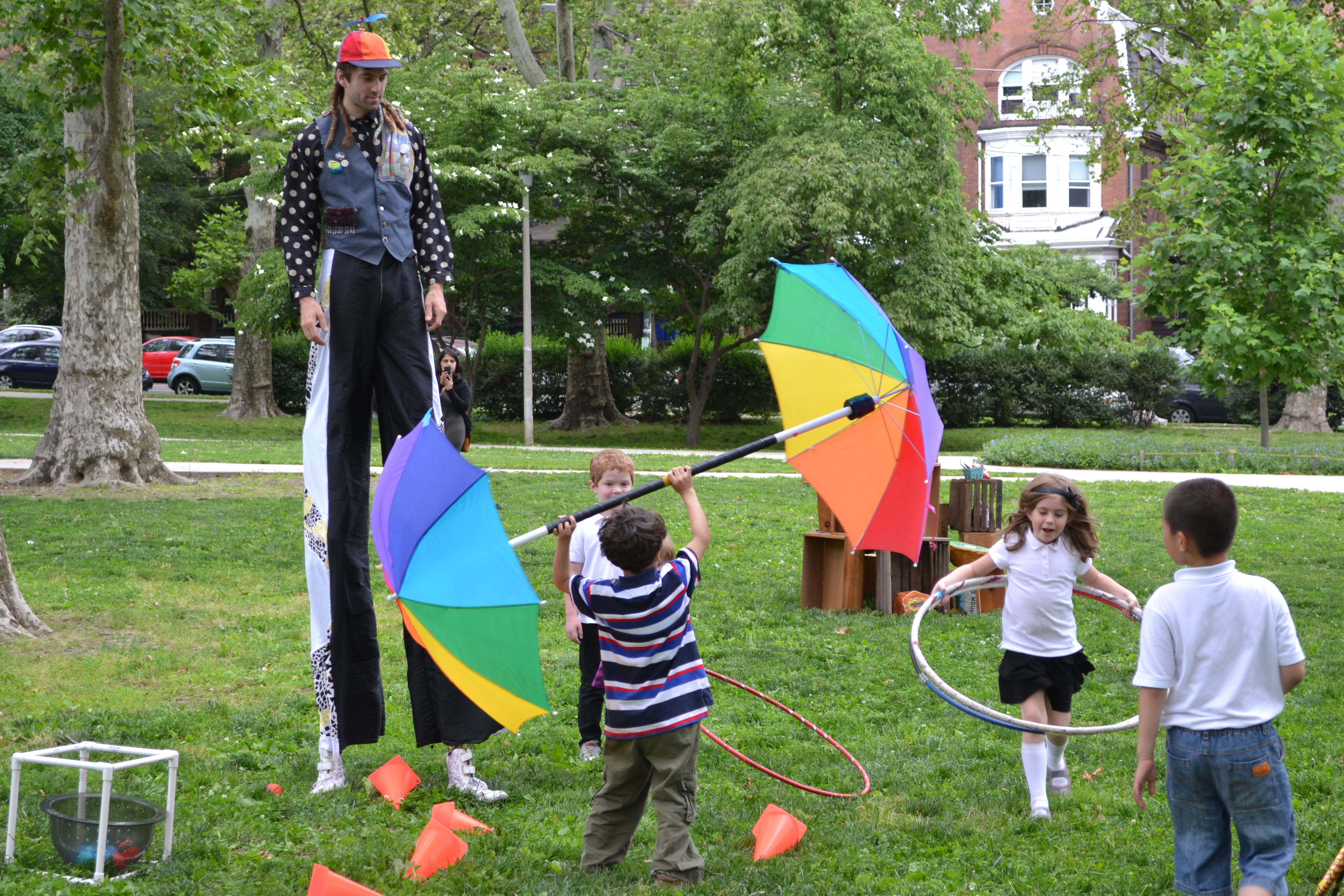 Clark Park kids learned a few circus tricks