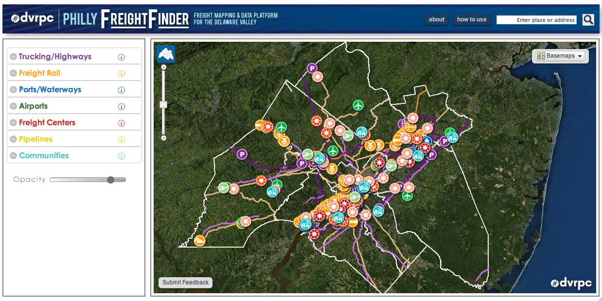 PhillyFreightFinder maps freight data DVRPC has been collecting for years and shares data with wider audience
