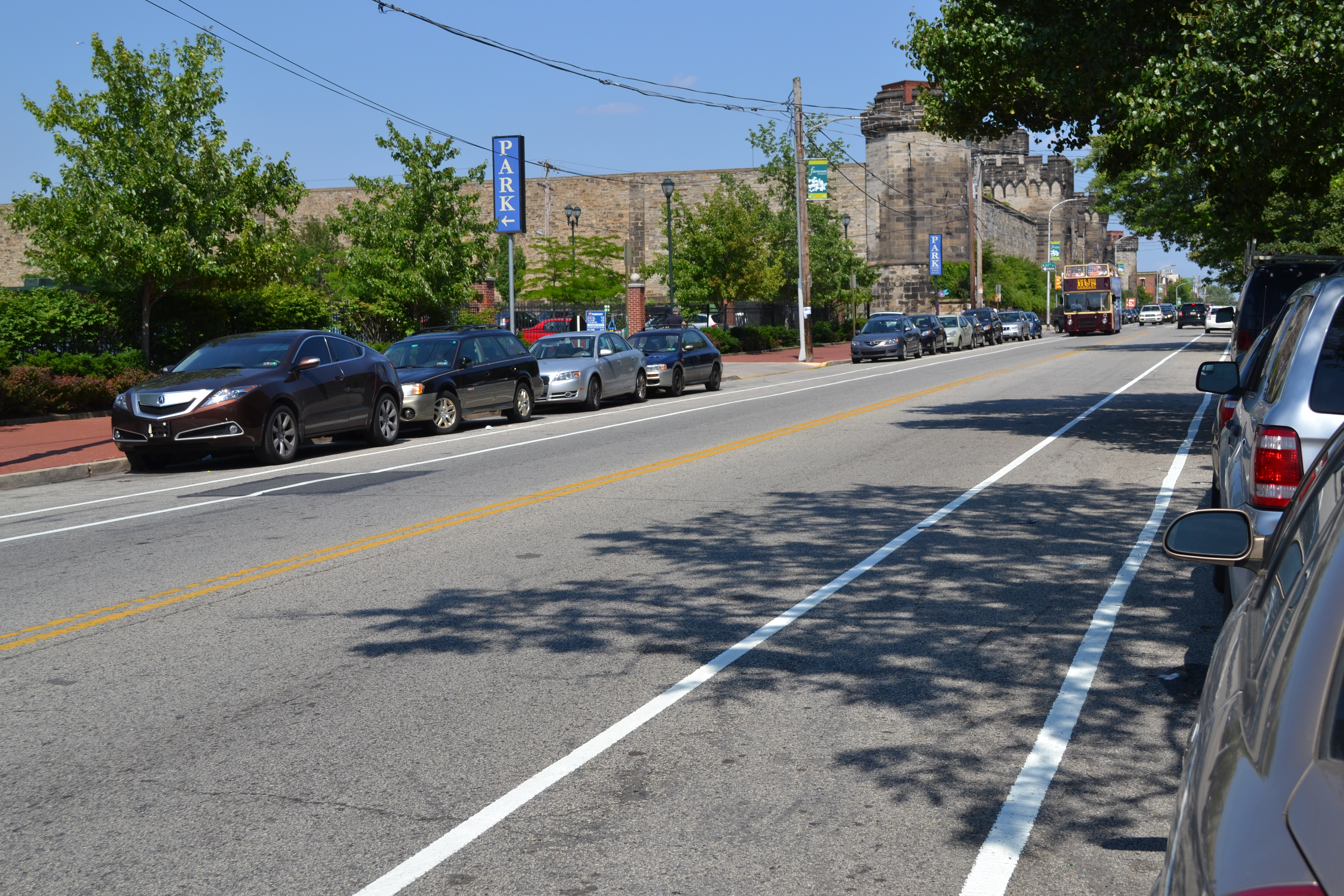 Fairmount Ave bike lanes