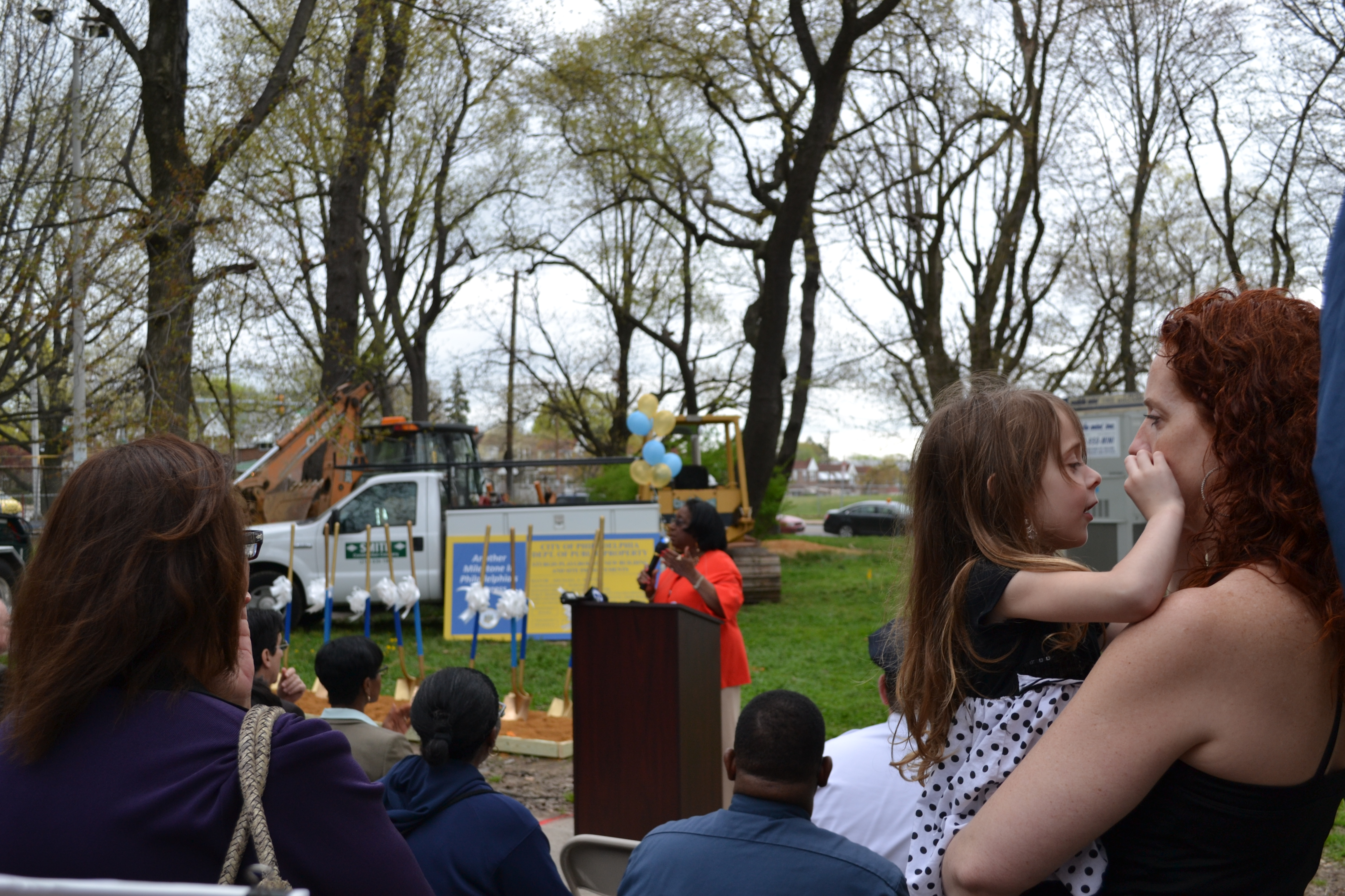 Families and community members attended the Sturgis Playground ground breaking ceremony