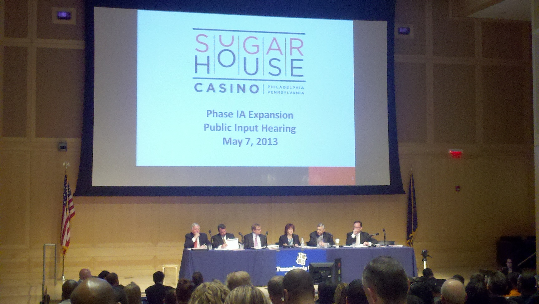 Gaming Board at SugarHouse expansion hearing