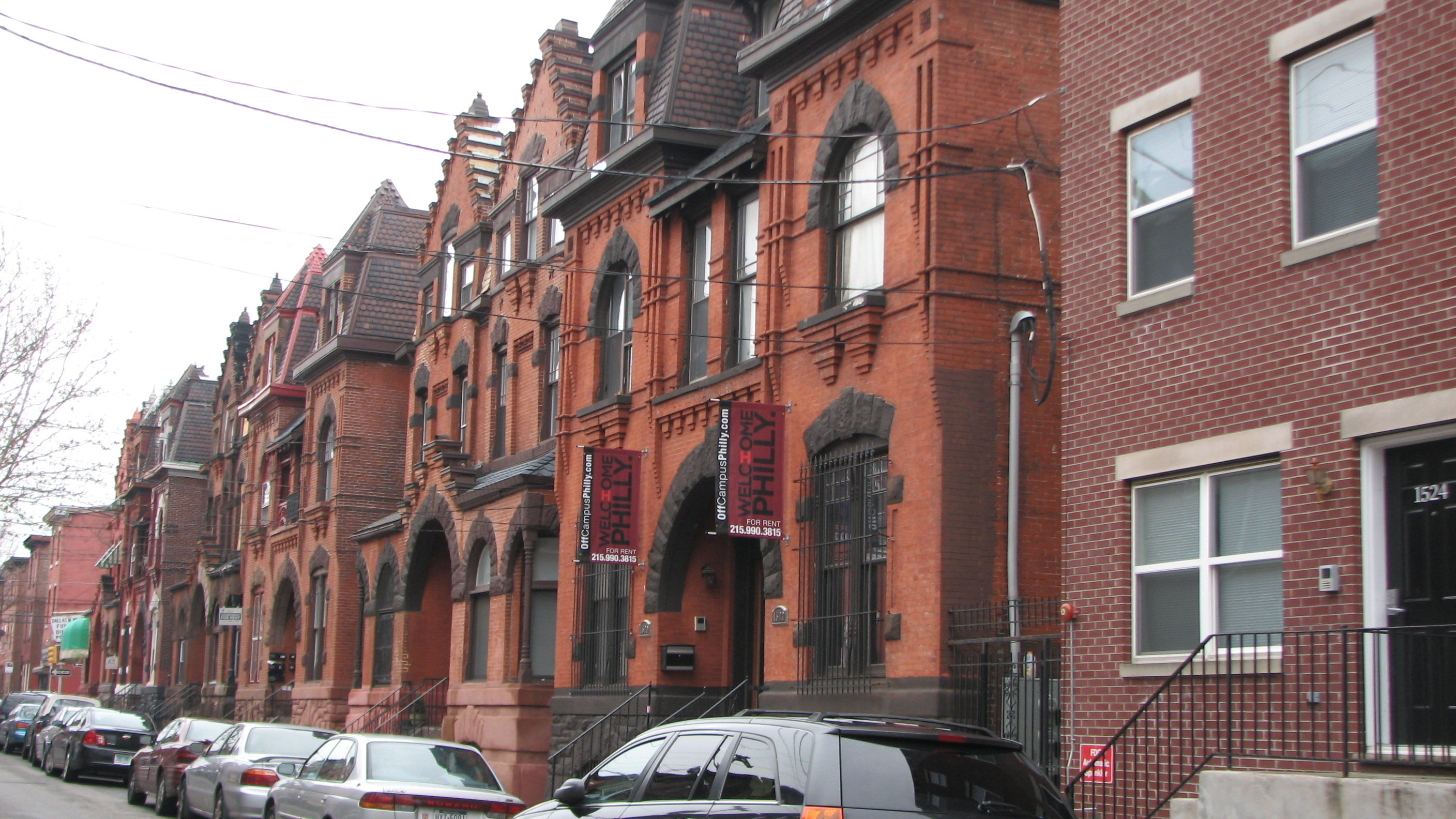The twin houses at 1500 to 1522 North 17th Street were designed in 1886 by Willis Hale.