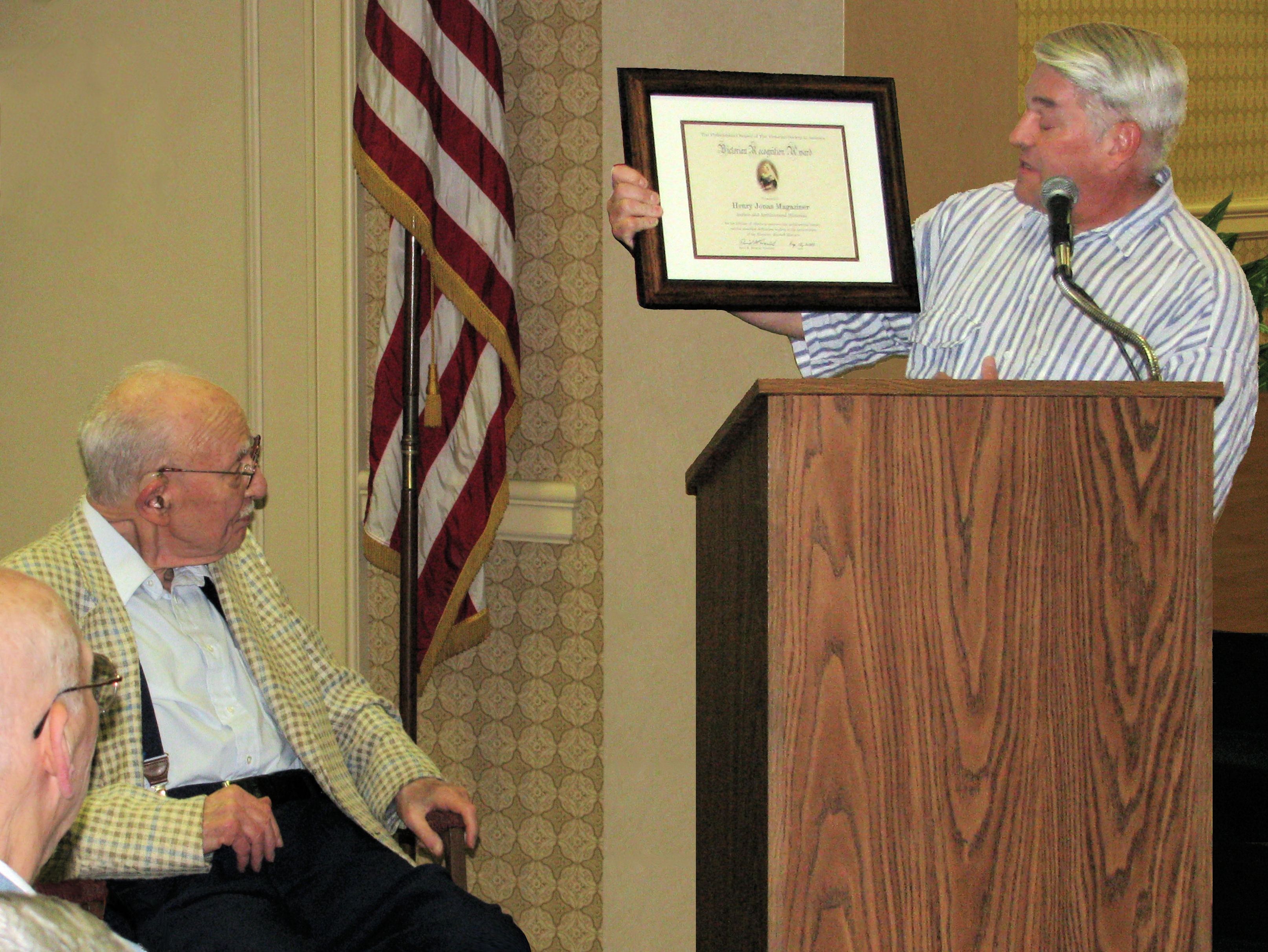 In 2009, the Victorian Society of America (Philadelphia Chapter) presented Henry J. Magaziner with its Recognition Award.