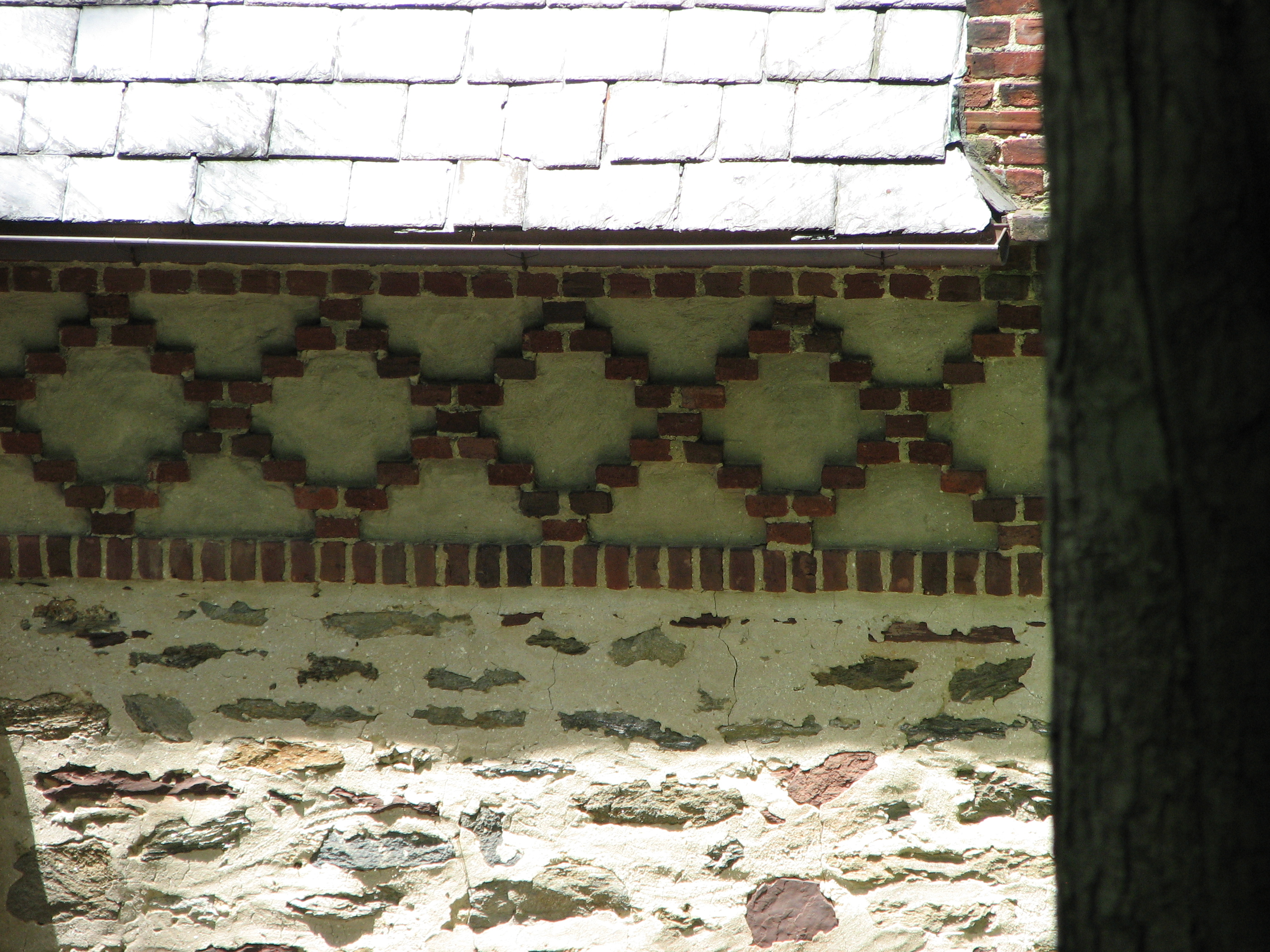 Elaborate brick designs adorn the carriage houses.