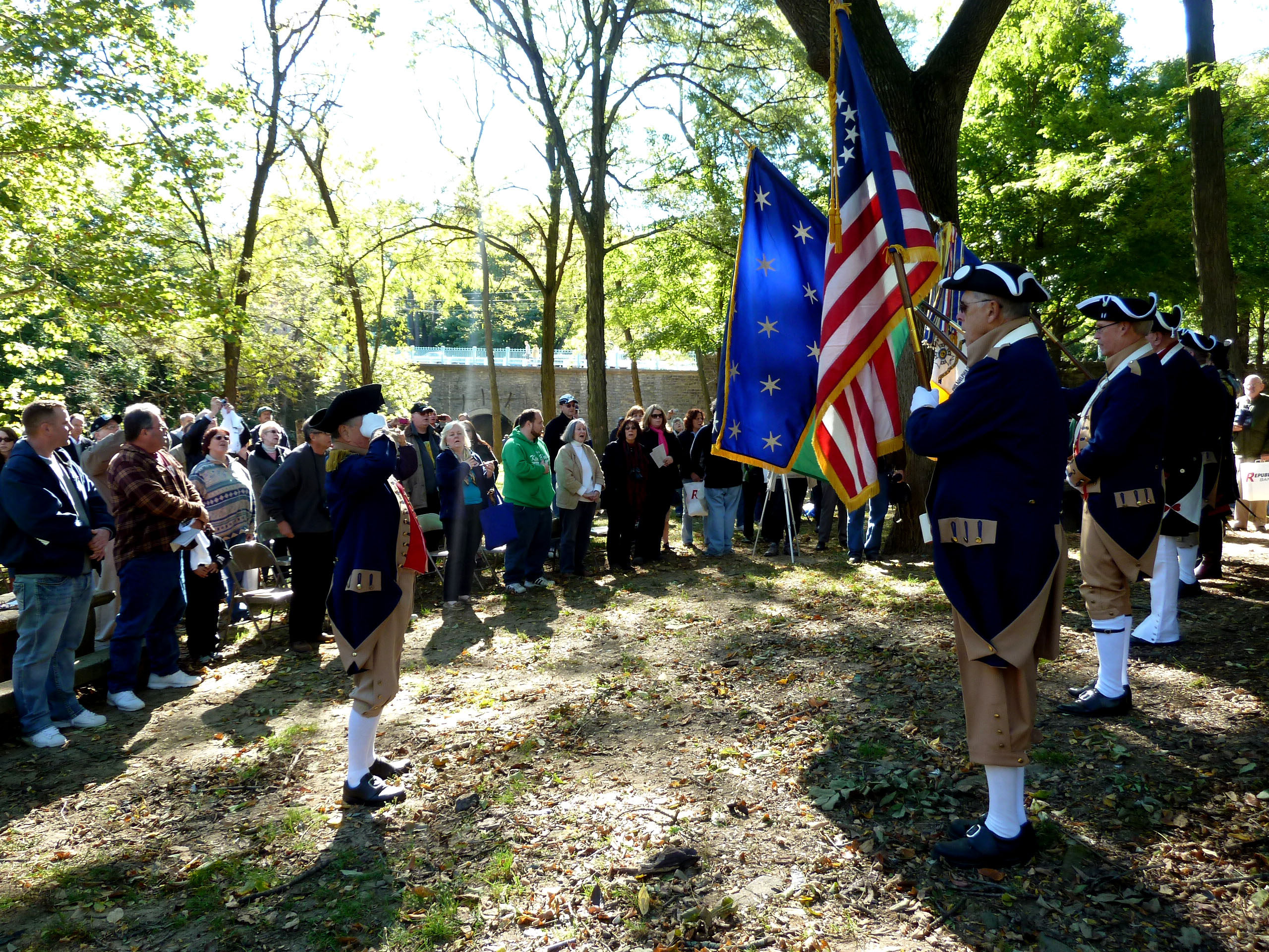 On October 13th hundreds gathered to celebrate the new marker commemorating the history Pennypack Creek Bridge in Holmesburg. | Jessica Lopez