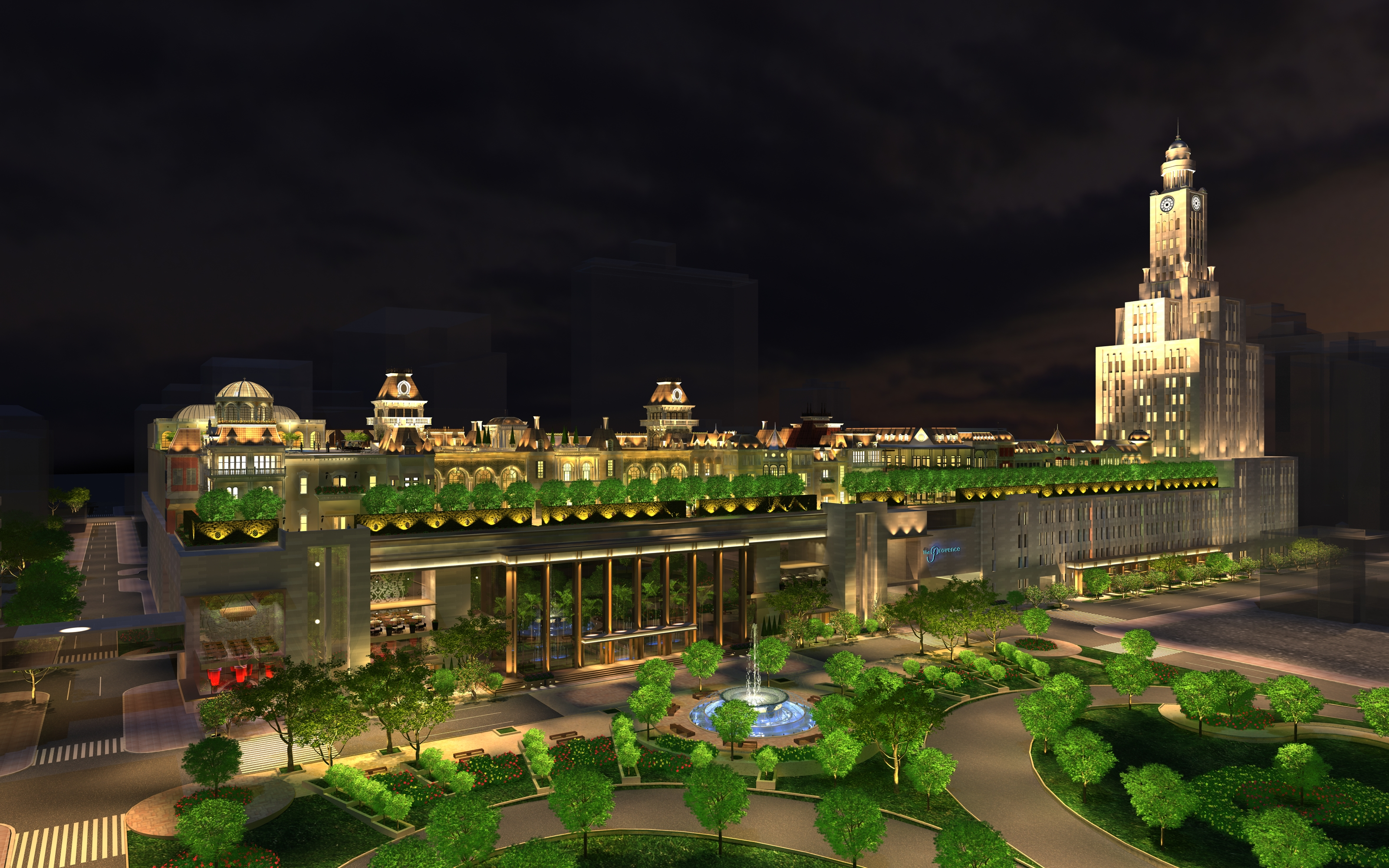 (Rendering of The Provence by night | courtesy of Tower Investments)