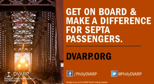 The DVARP public service announcement will run through November and encourage riders to contact lawmakers to encourage mass public transit funding