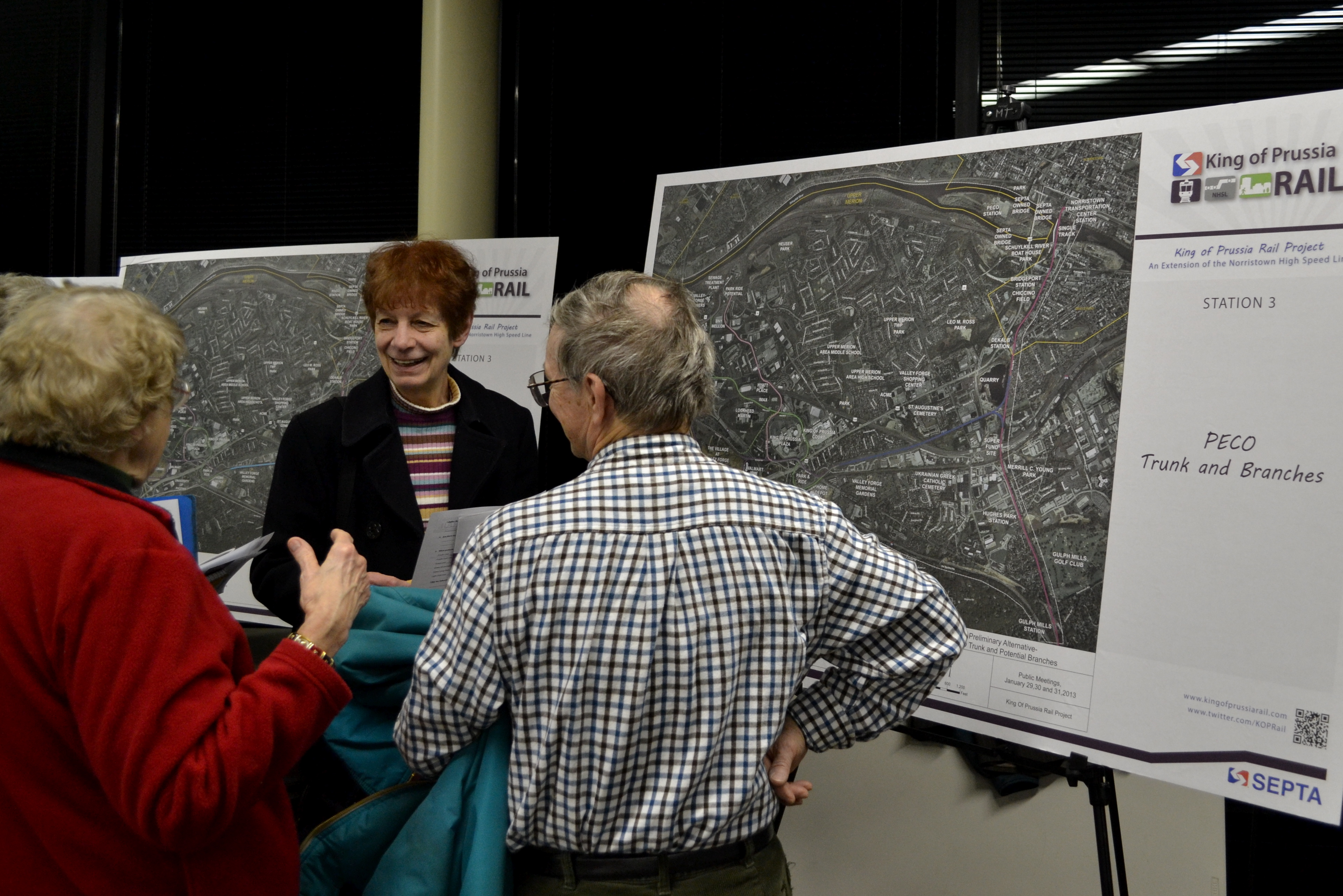 King of Prussia Rail Project public meeting