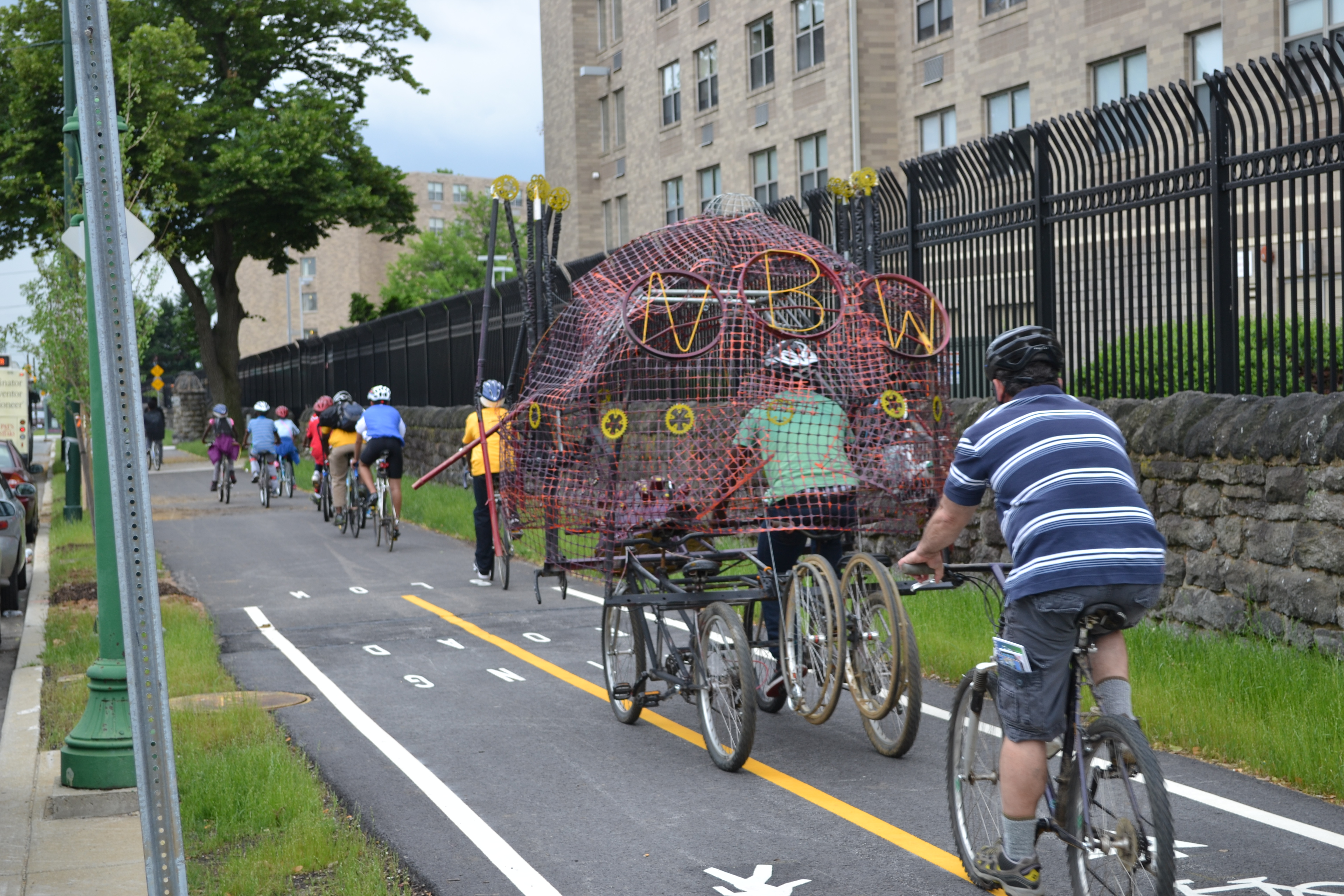 Neighborhood Bike Works youth set off down the greenway