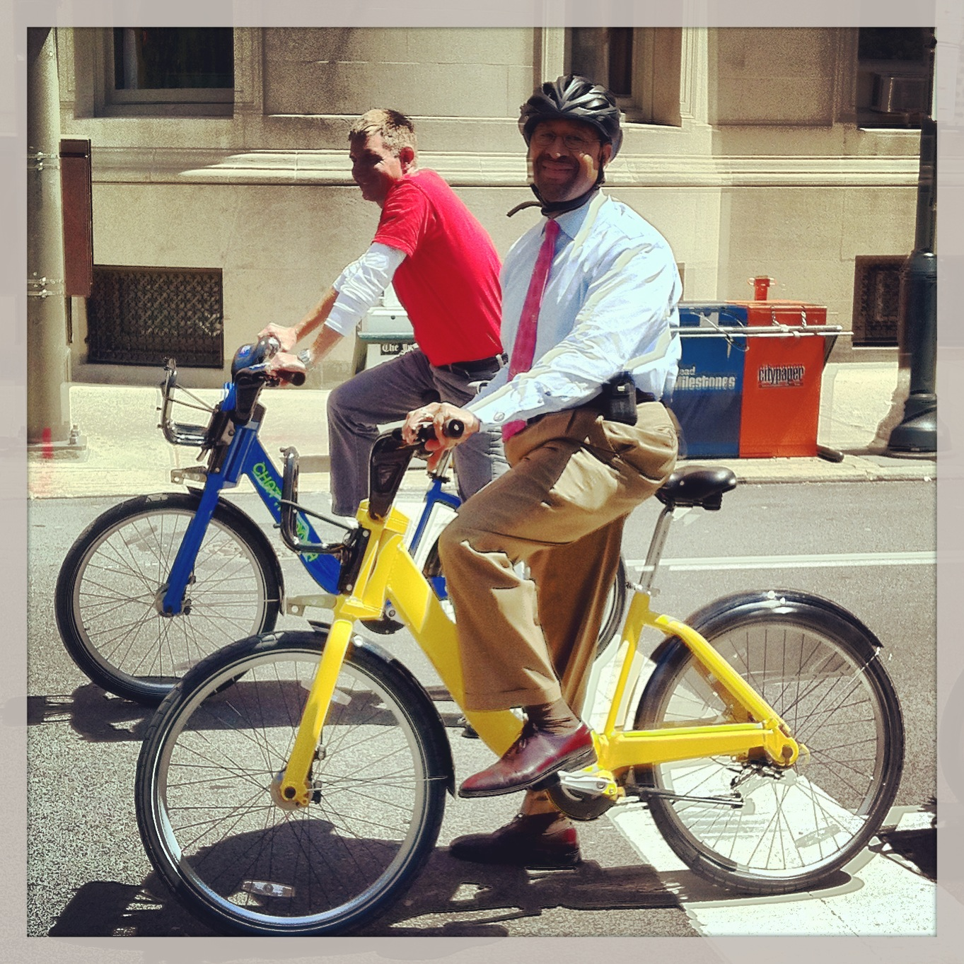 Mayor Nutter riding an Alta/PBSC bike.