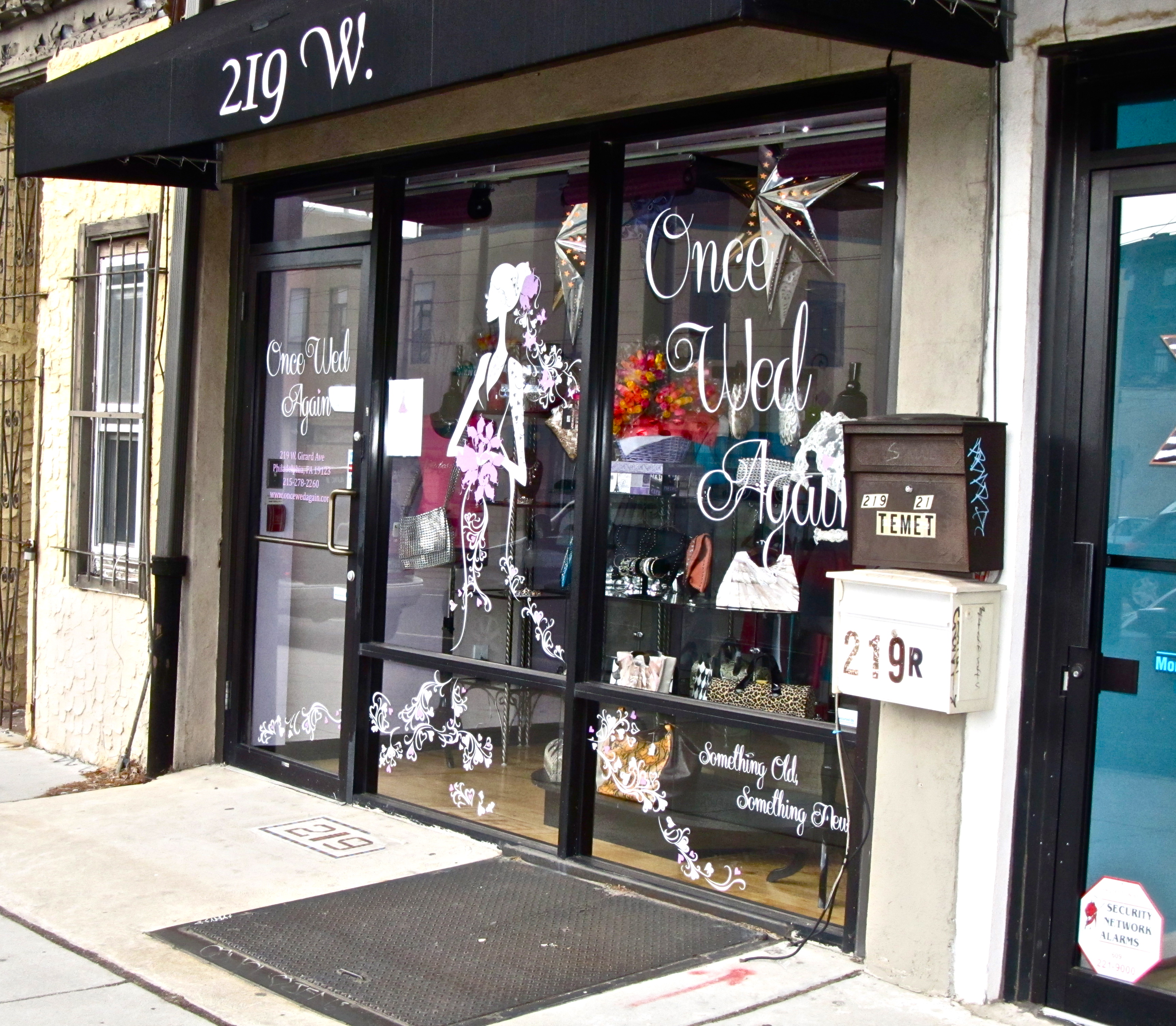 Once Wed Again, Jennifer Waszak's boutique, is located right next to Kiddie Kouture on Girard Avenue.