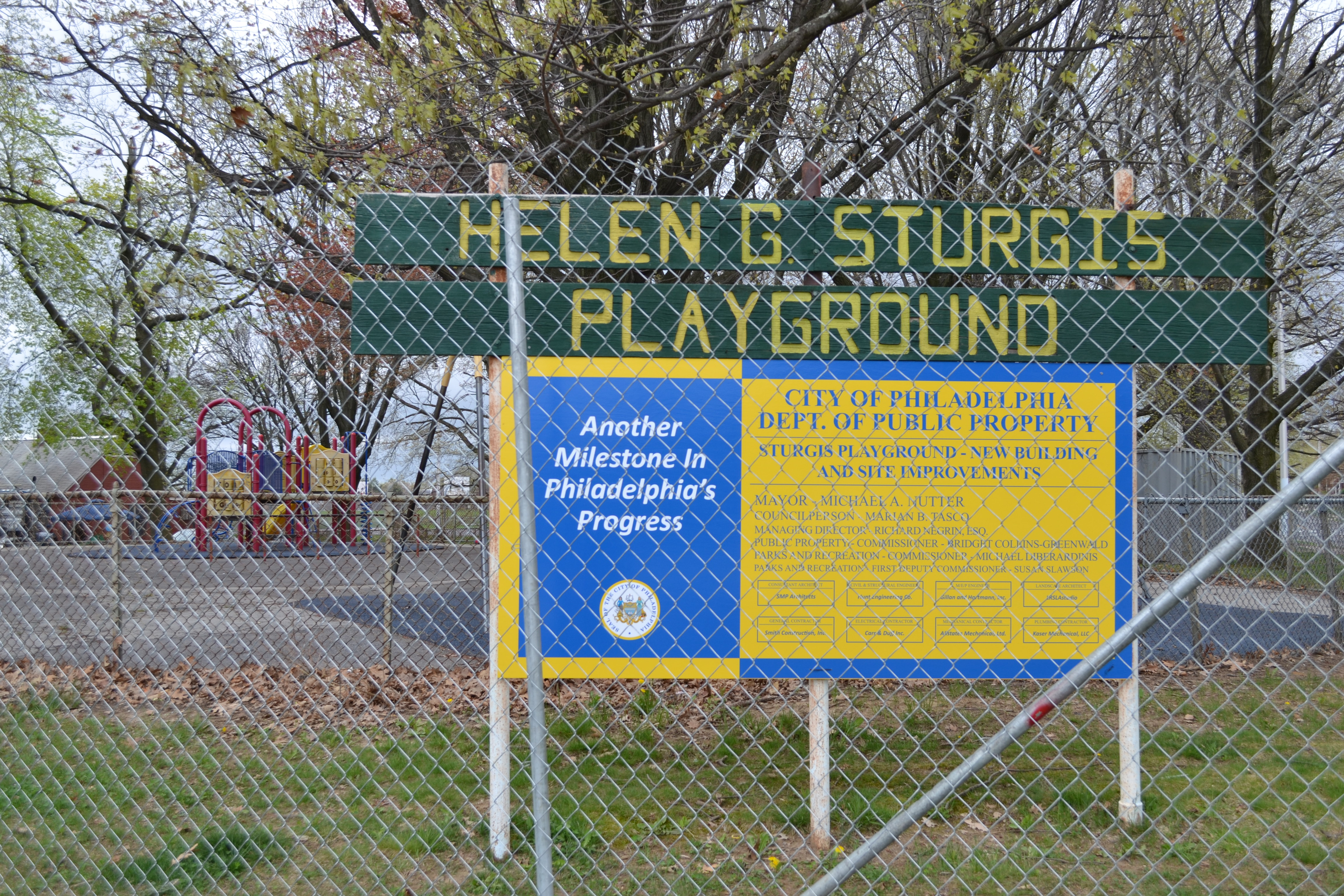 Project leaders broke ground on the Helen Sturgis Playground renovation