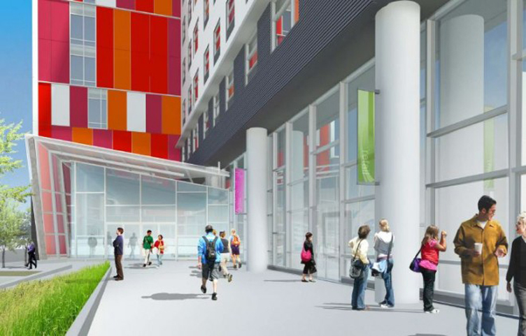 Rendering of WRT designed Wannamaker Plaza, 11th and Montgomery