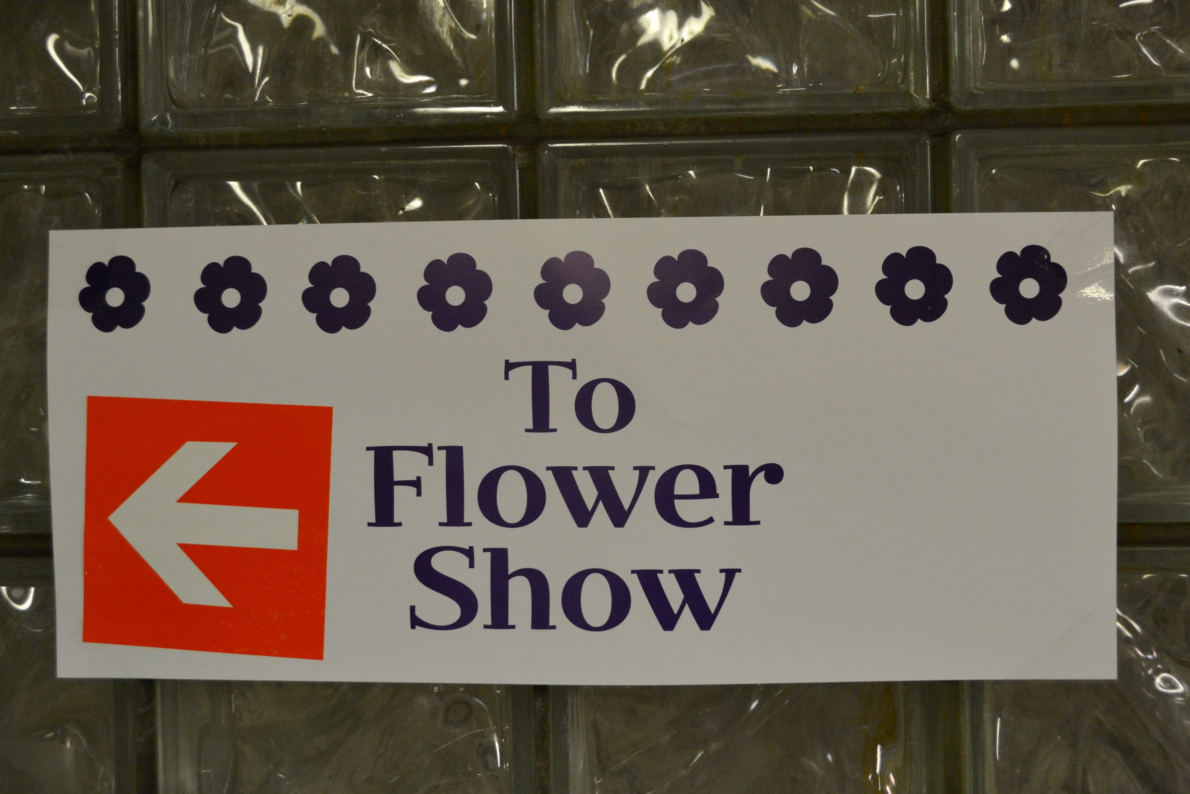 SEPTA added signs in nearby subway stations directing riders to the Flower Show