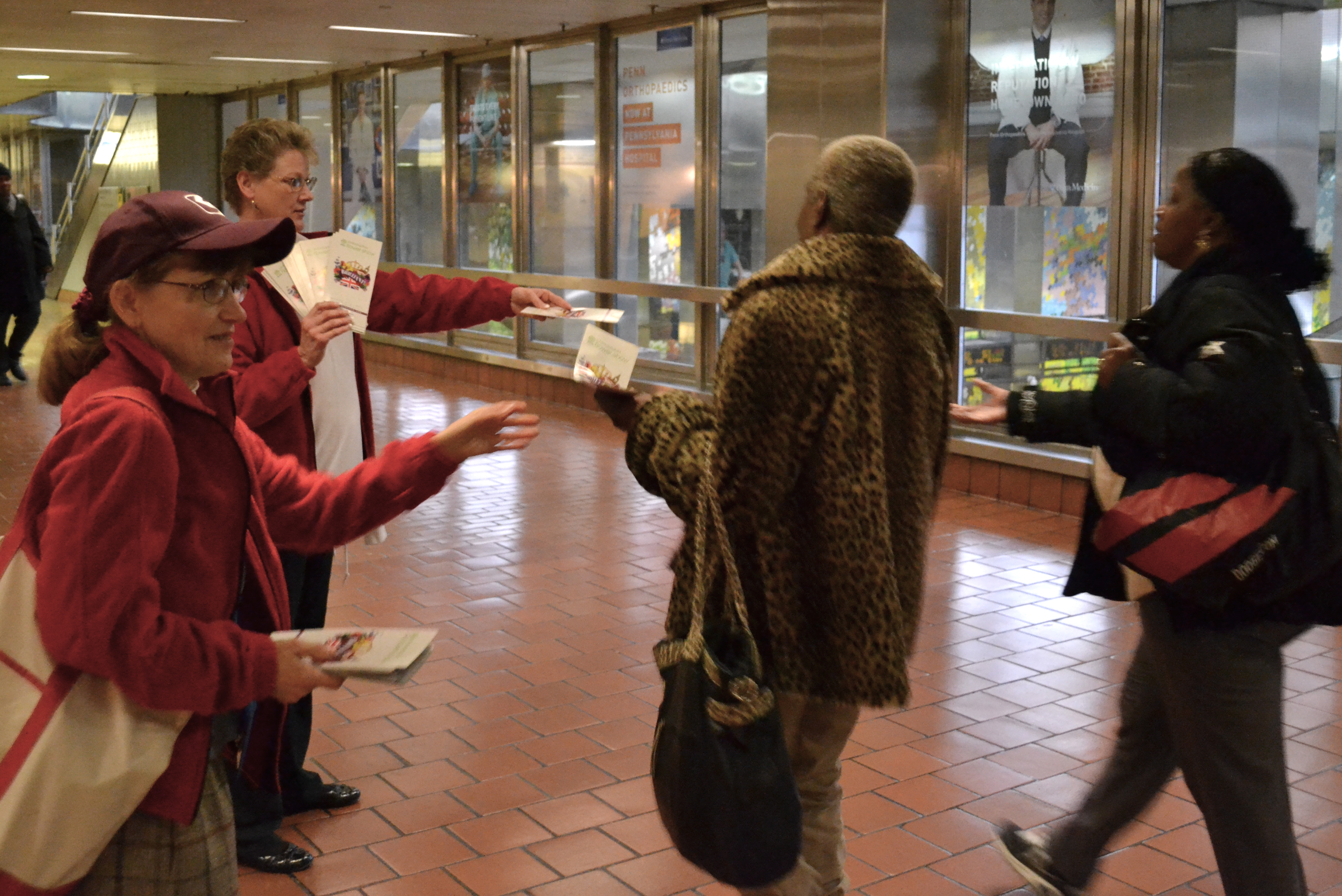 SEPTA's ambassadors directed Flower Show attendees through Market East Station