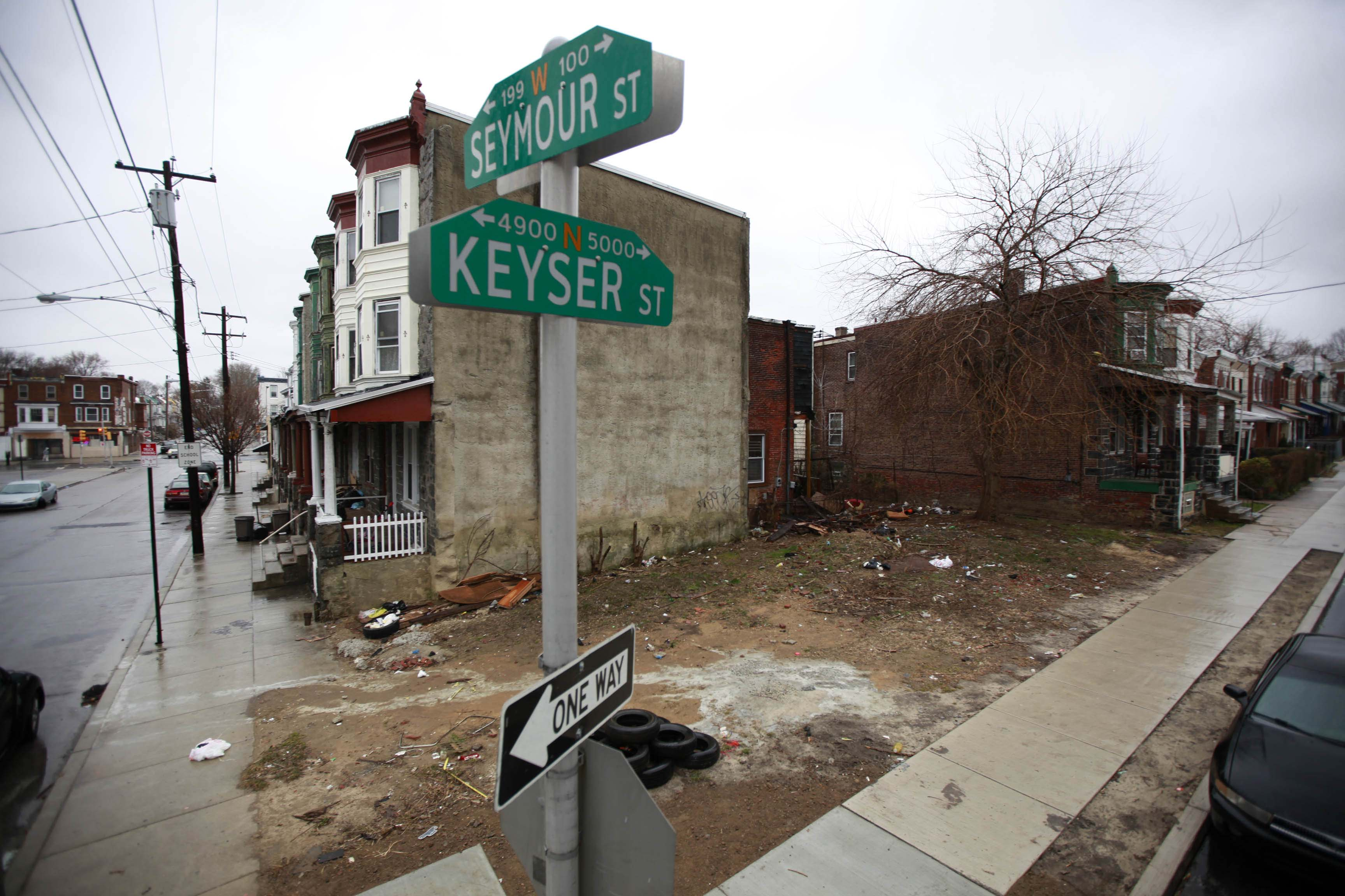 Seymour and Keyser streets is the Germantown section of Philadelphia March 6, 2013. ( David Swanson / Inquirer Staff Photographer)
