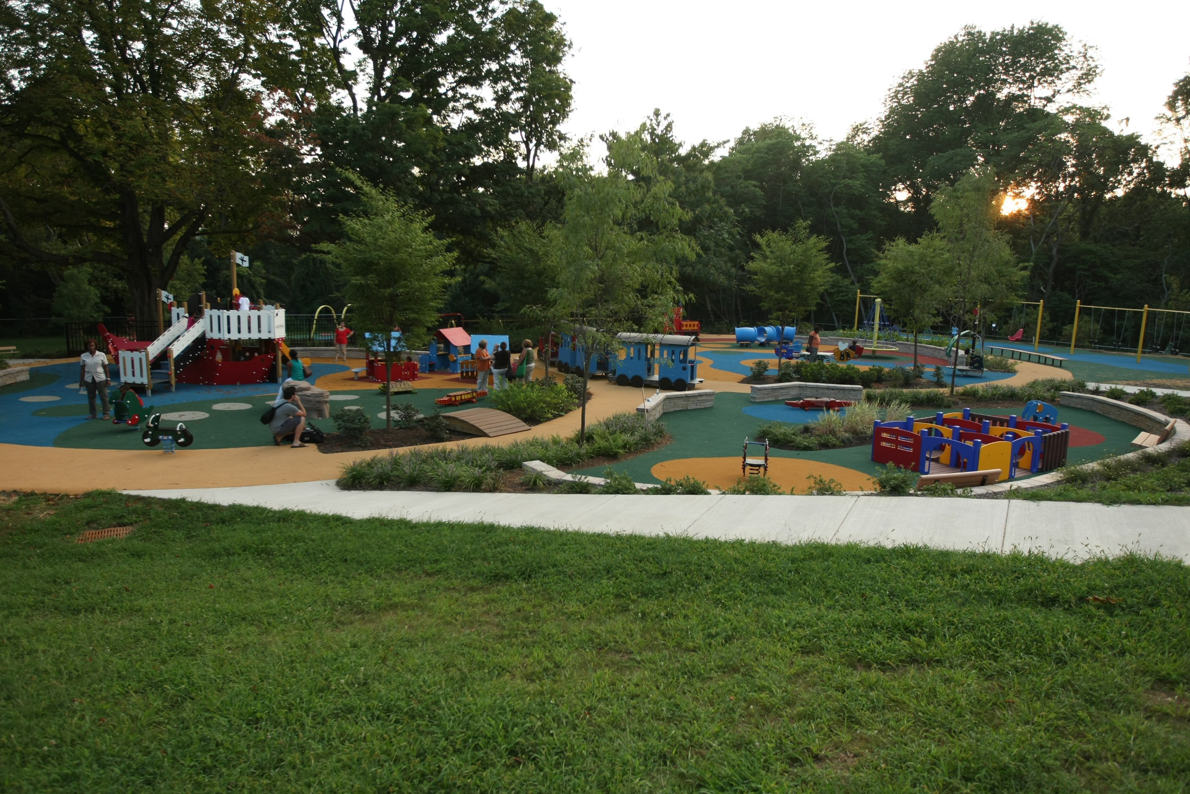 Smith Playground sits on 6.5 acres in East Fairmount Park, Photo courtesy of Smith Memorial Playground