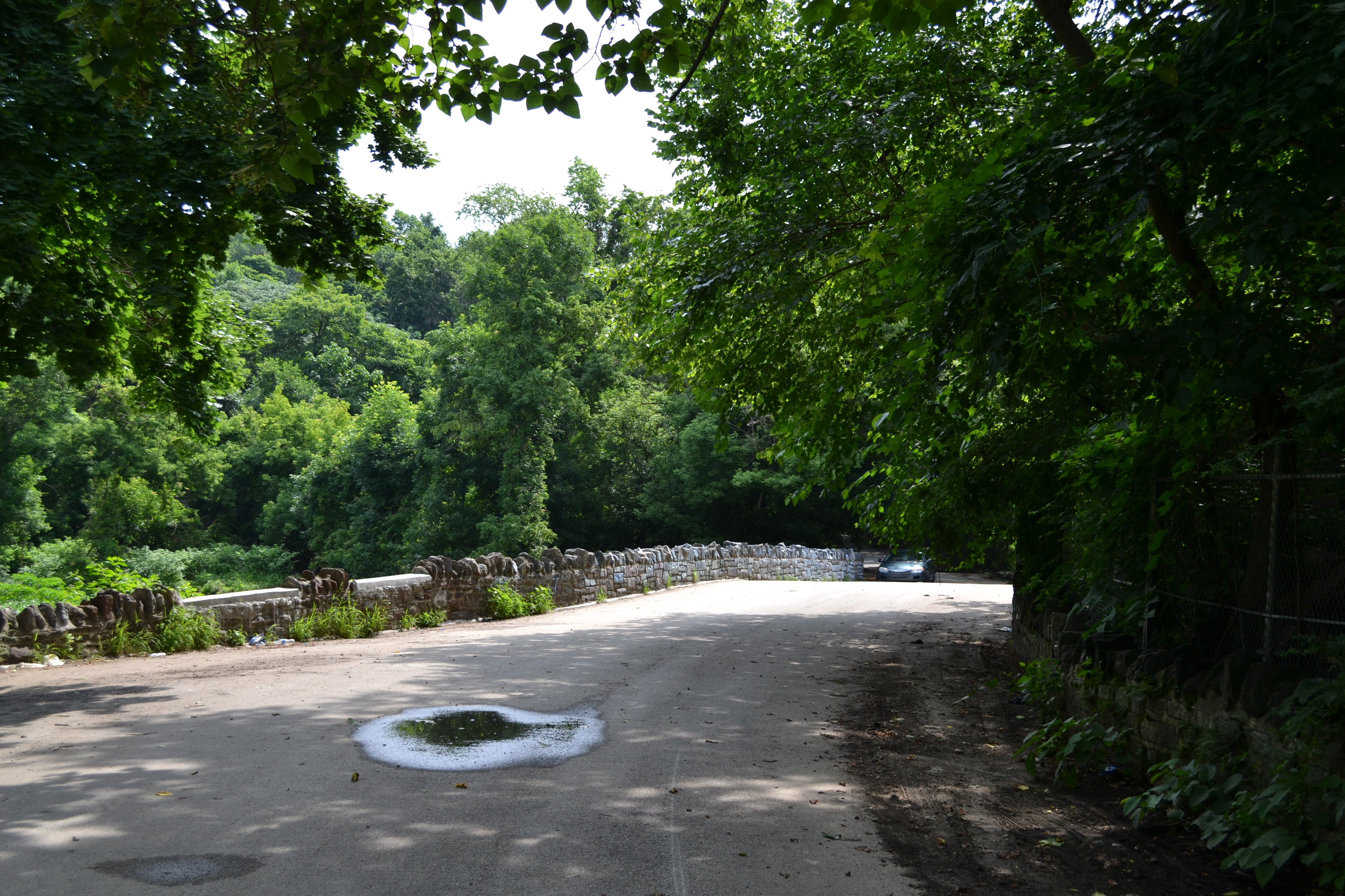 Tacony Creek Park, The trail crosses Fisher's Lane Bridge, one of the oldest bridges in Philadelphia County