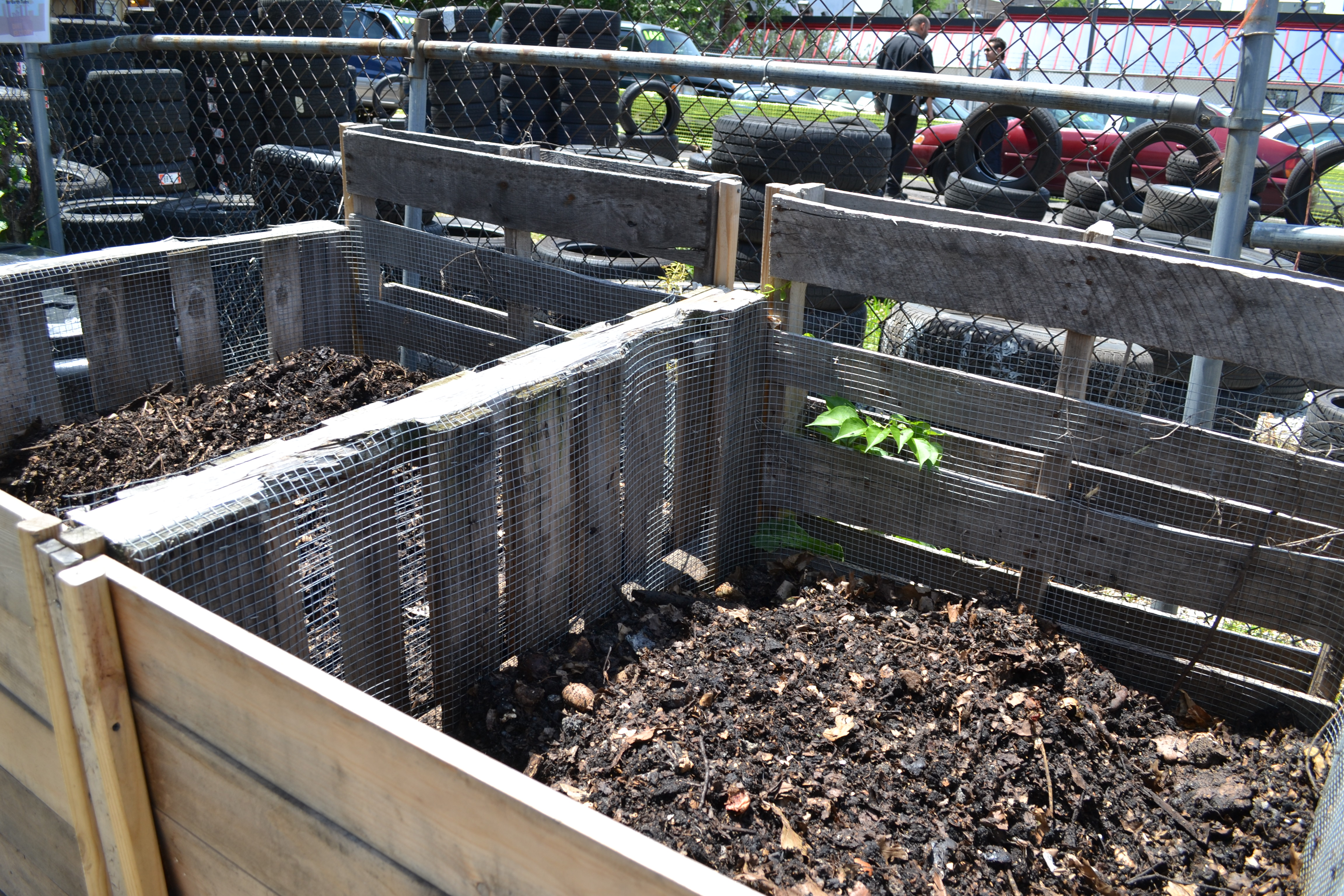 The Dirt Factory turns food scraps, leaves and other organic material into nutrient-rich compost for neighborhood gardens