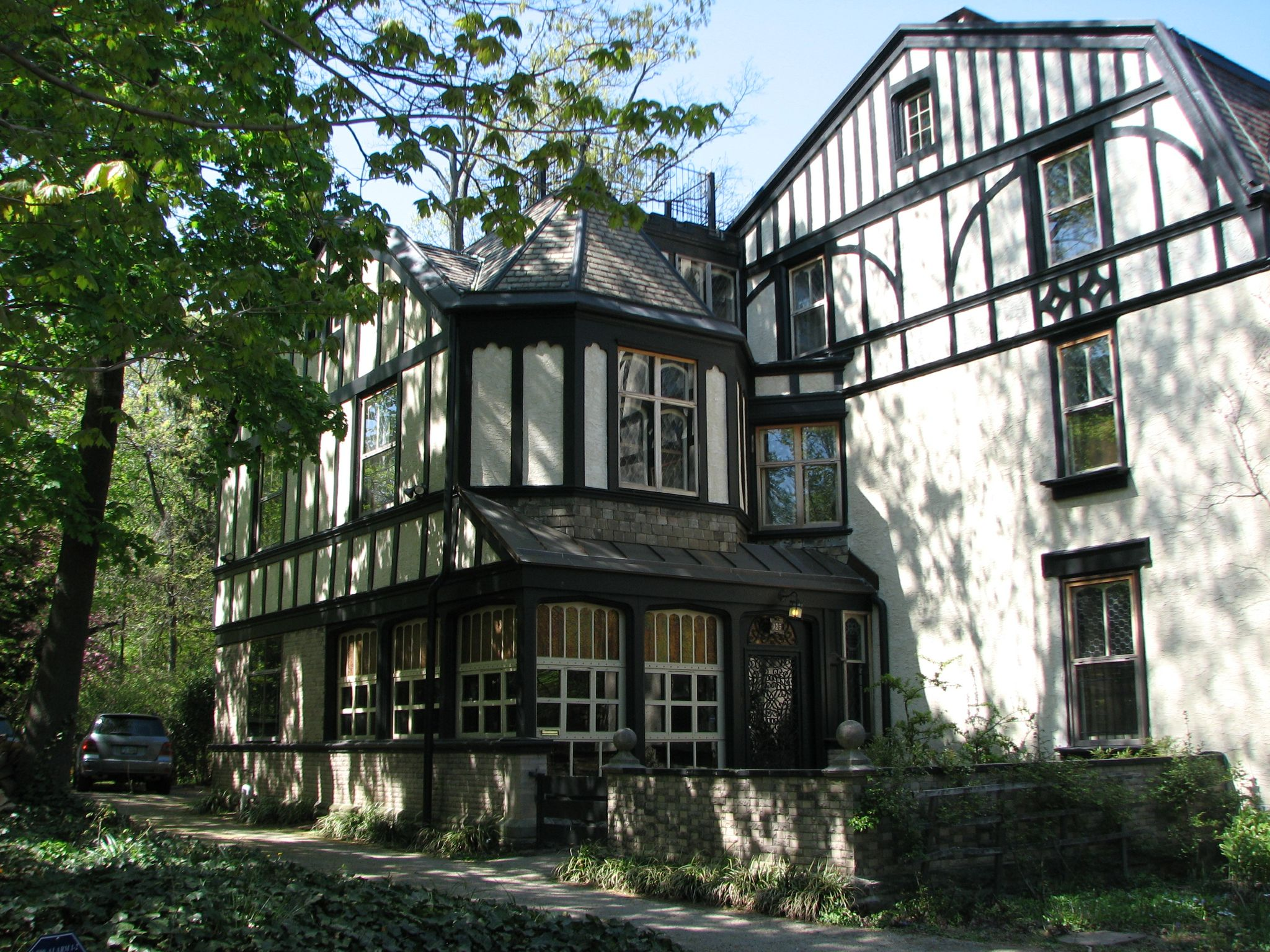The Flemish Dutch chalet at 125 West Walnut was designed by and was the home of George T. Pearson.