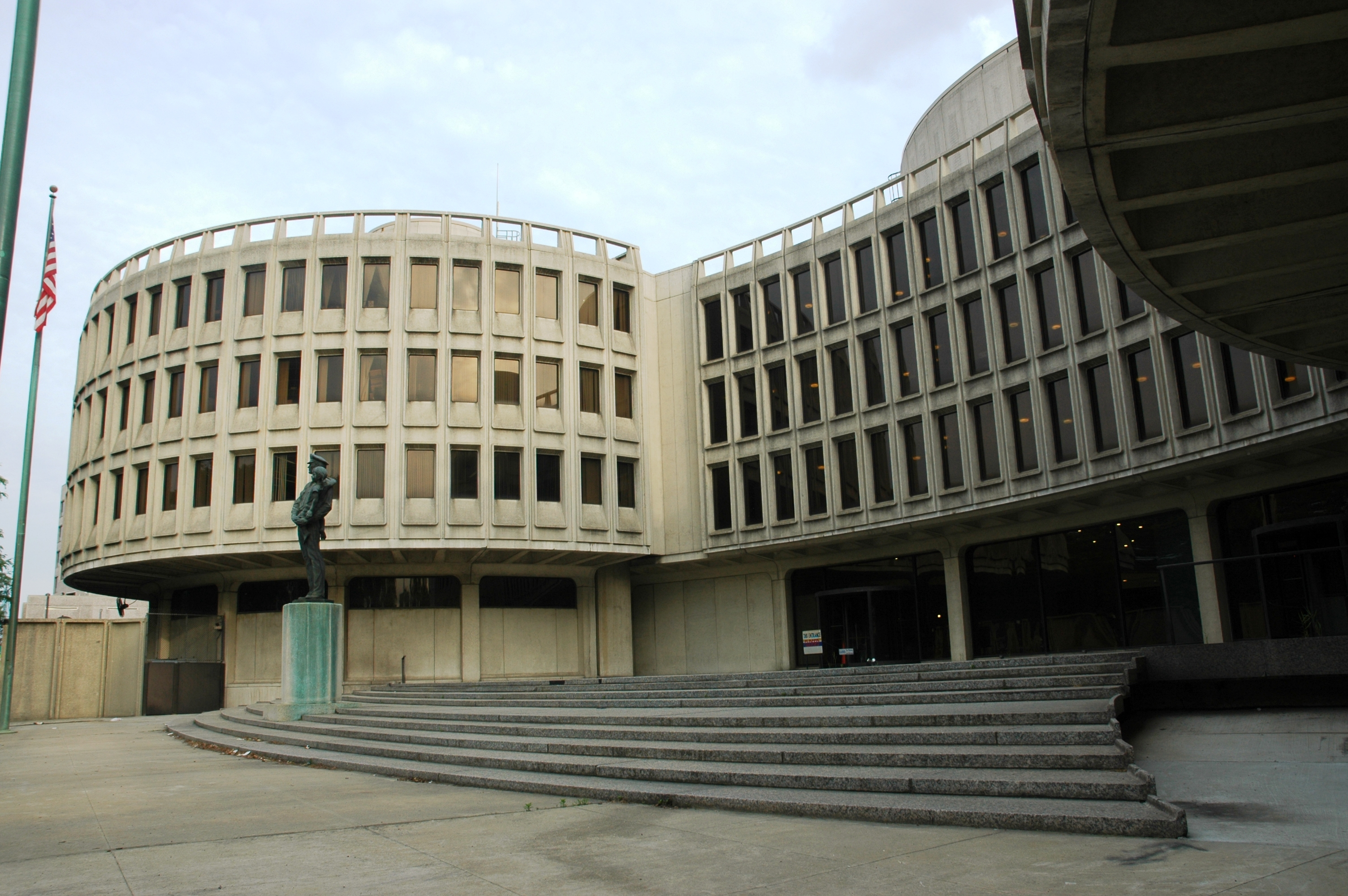 The Police Administration Building, 700 Race St., was designed in the early 1960s by Geddes, Brecher, Qualls & Cunningham.