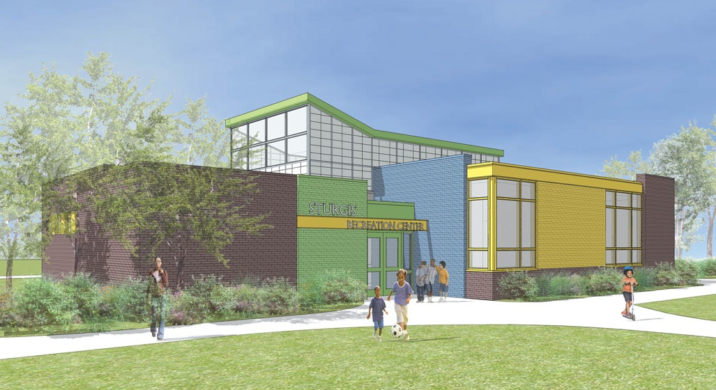 The proposed Sturgis Recreation Center includes increased educational space, Photo courtesy of SMP Architects